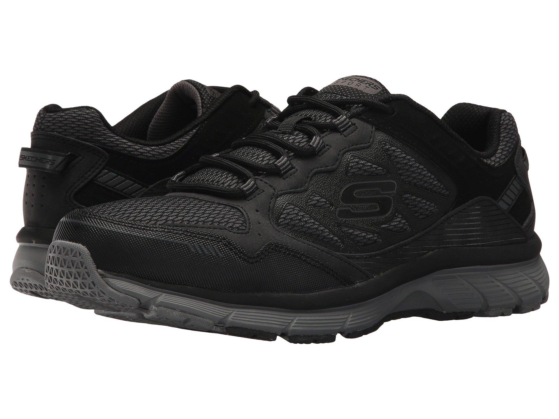 Marcha mala Acrobacia Traición  Skechers Leather Bowerz in Black for Men - Lyst