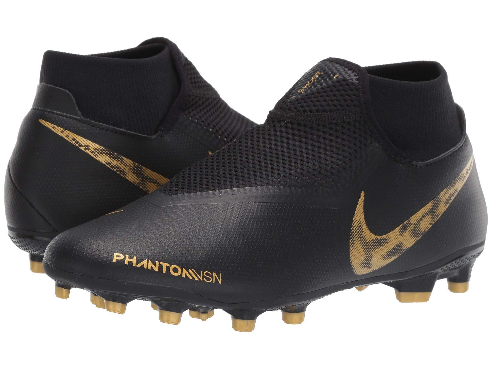 7d59951191e1 Nike Phantom Vsn Academy Df Mg (black/metallic Vivid Gold) Men's ...