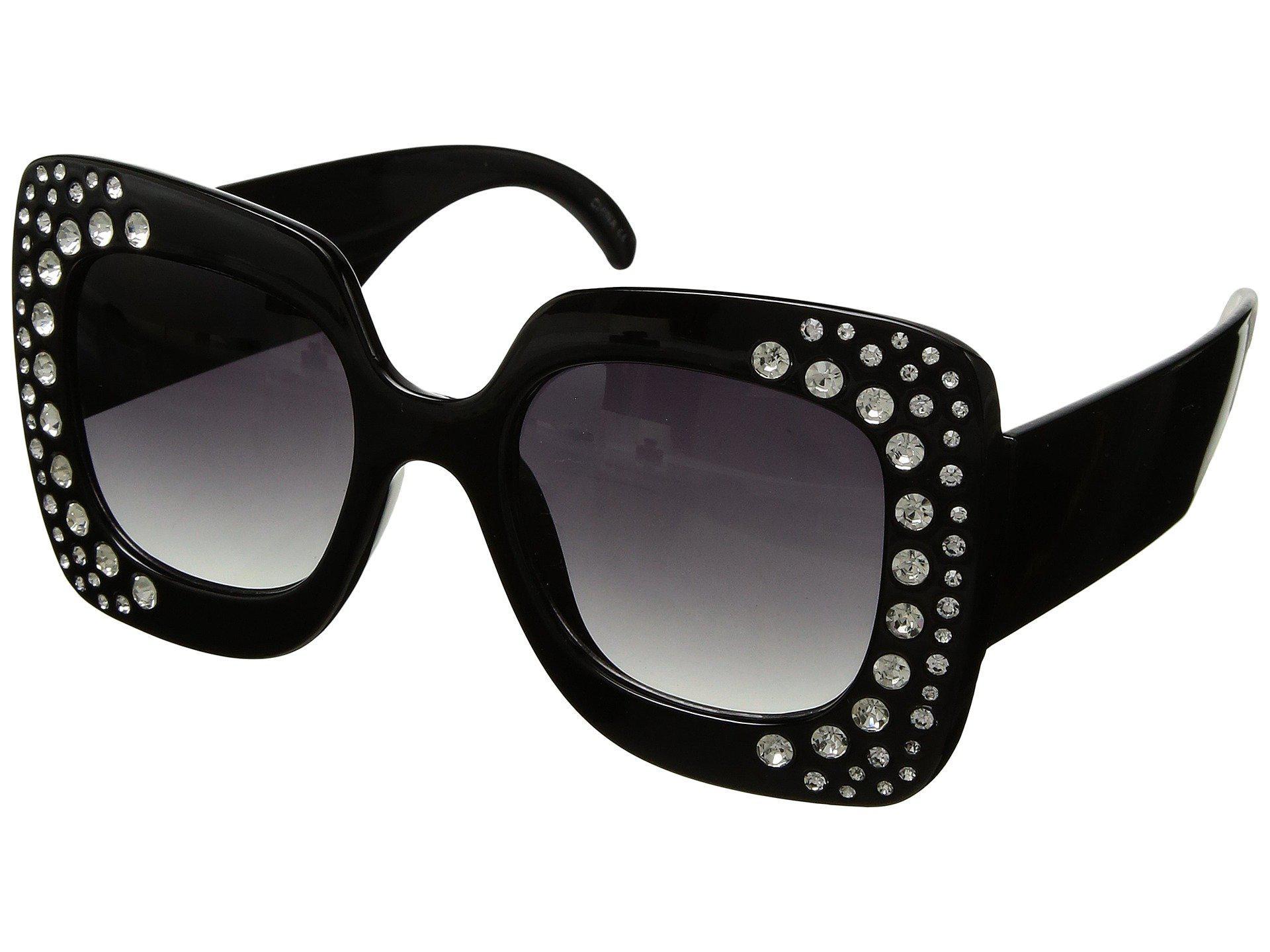 095b19cfad3f Steve Madden Bling (black) Fashion Sunglasses in Black - Lyst