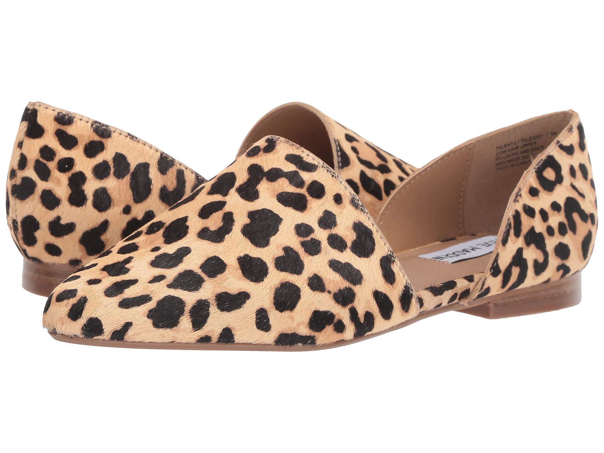 9ae810215cd Lyst - Steve Madden Talent-l Flat (leopard) Women s Shoes