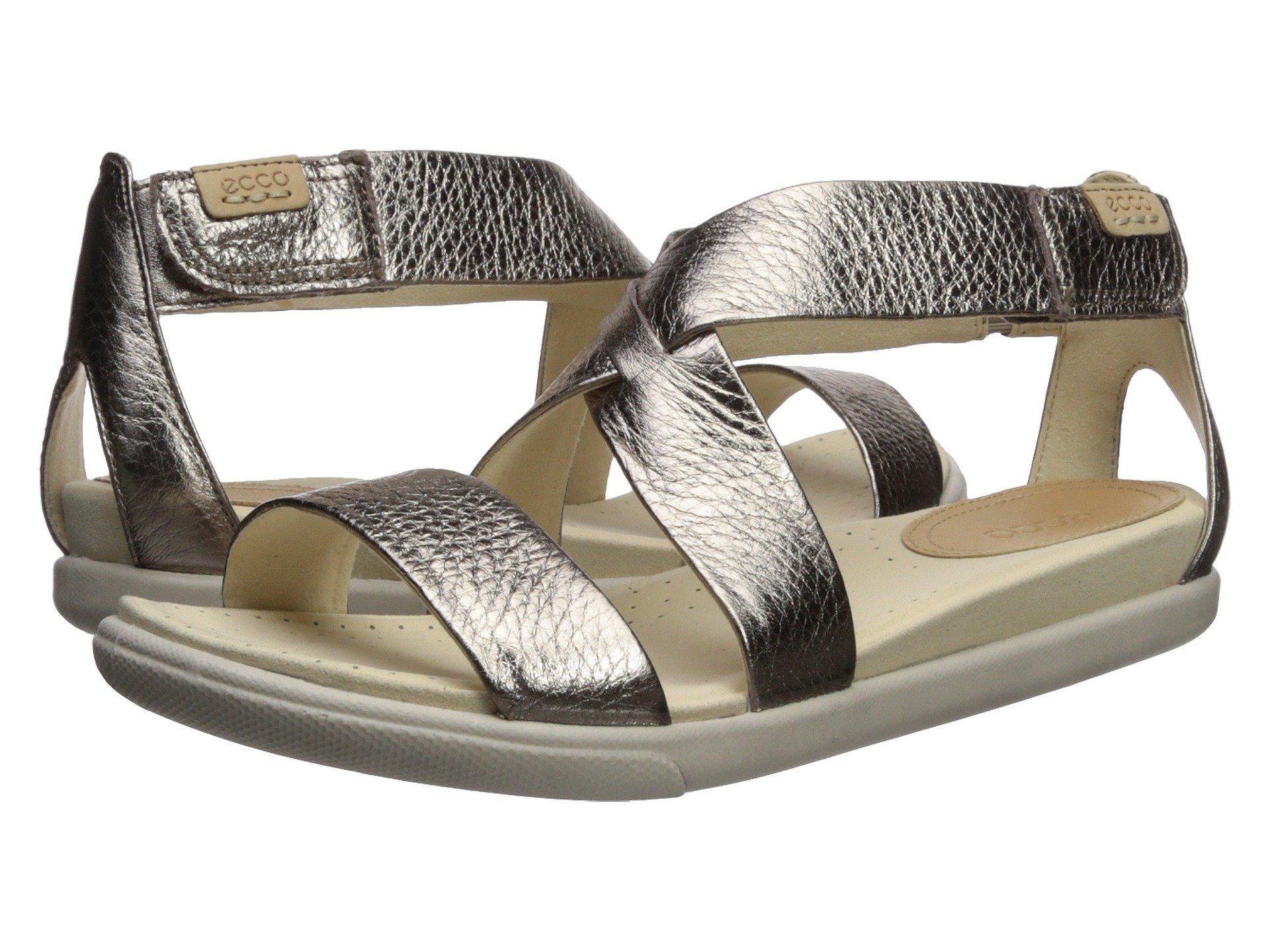 b611439c7f3 Ecco. Gray Damara Casual Sandal (warm Grey Metallic Cow Leather) Women s  Sandals