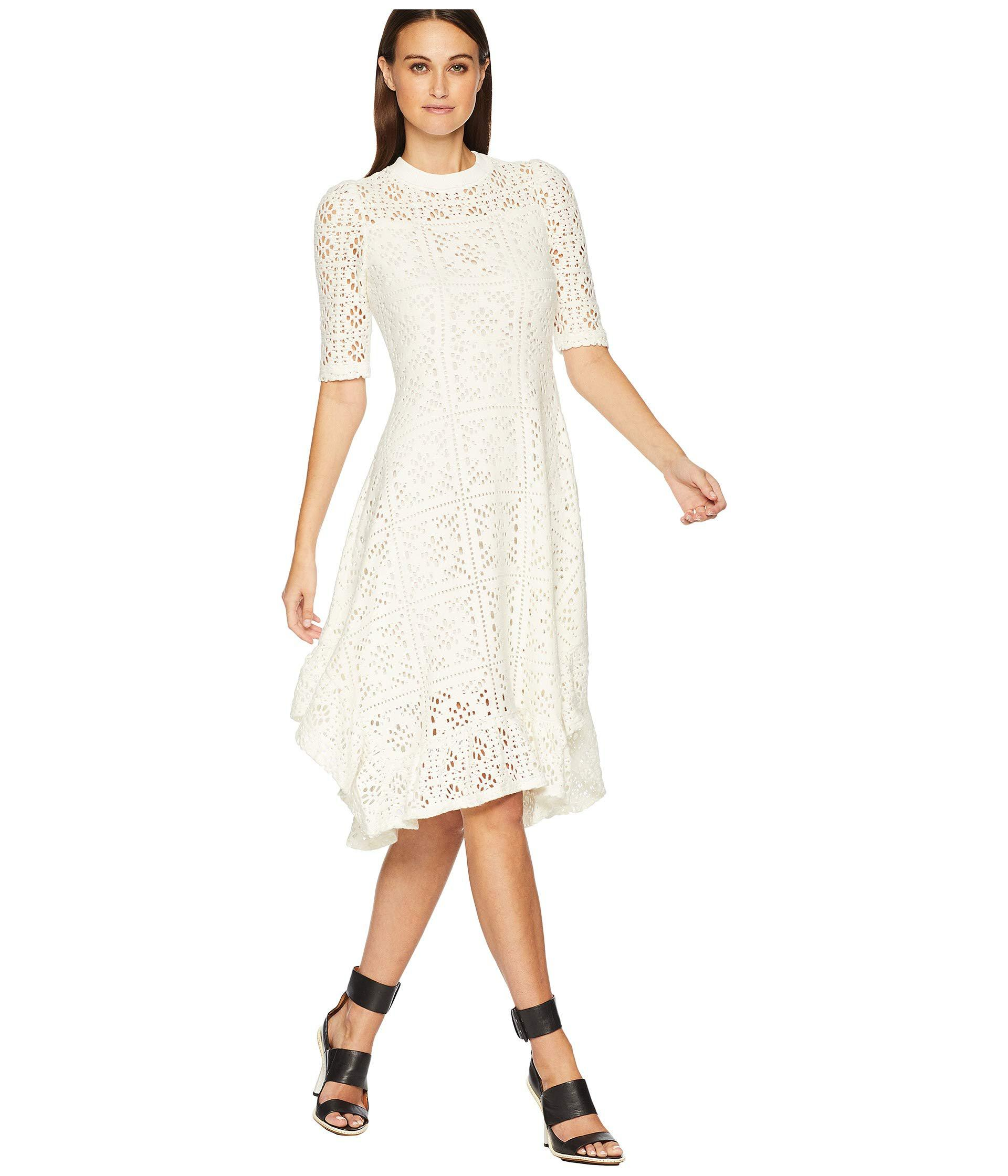 b30d72f829 Lacey Jersey Midi Dress (eden White) Women's Dress