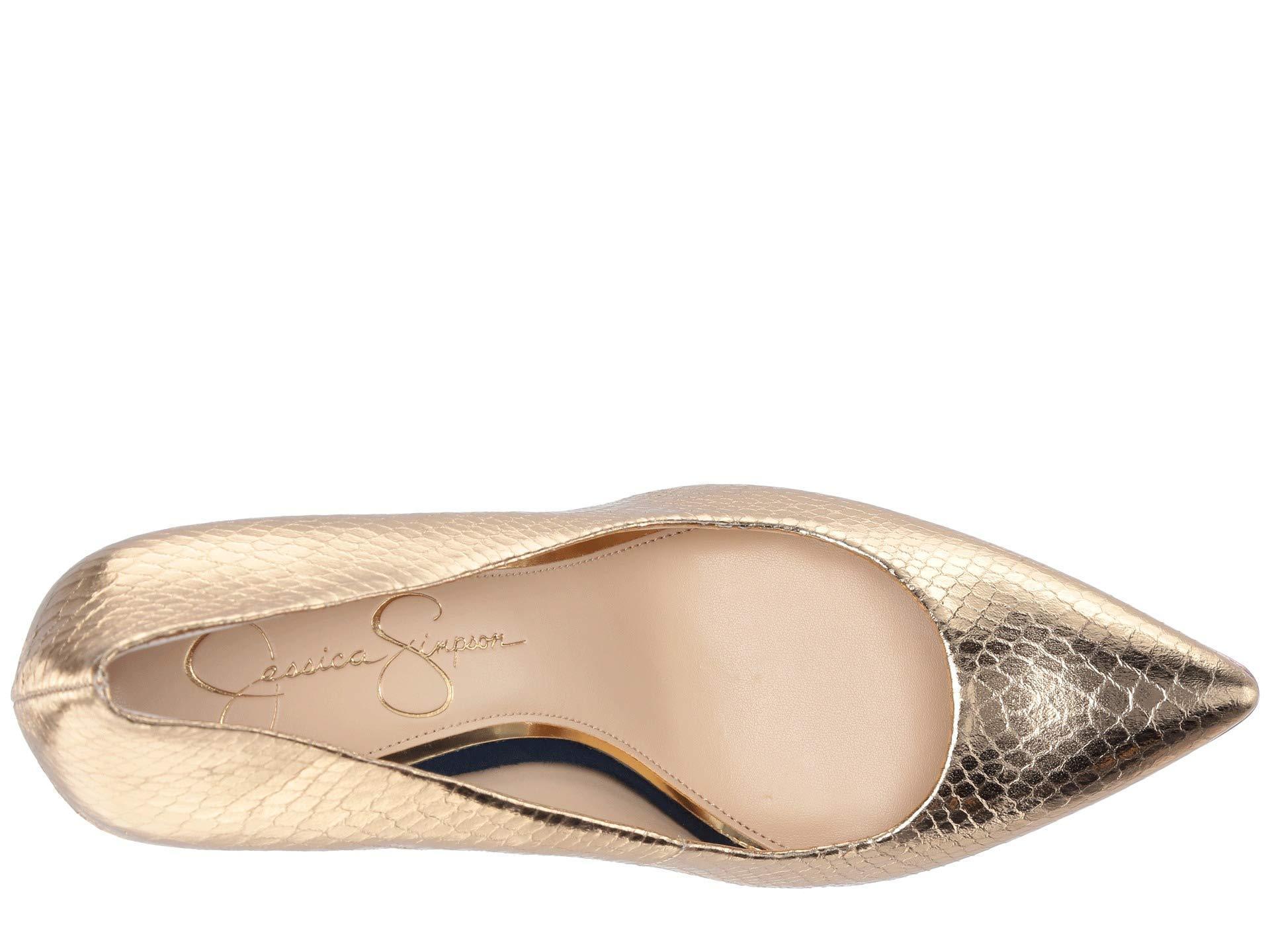 e3db70c93d Jessica Simpson - Loyren (karat Gold Combo Metallic Python) Women's Shoes -  Lyst. View fullscreen