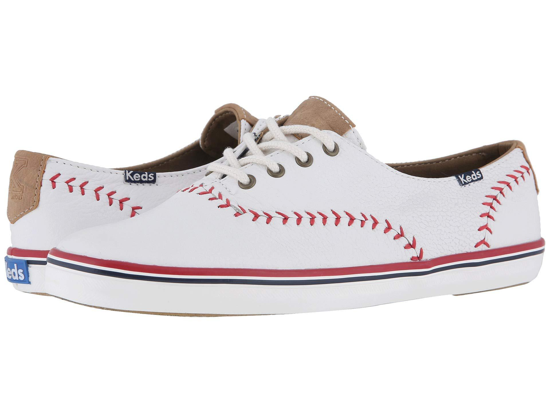 41fa2d8236ac Keds - Champion Leather Pennant (white Leather) Women s Lace Up Casual Shoes  - Lyst. View fullscreen