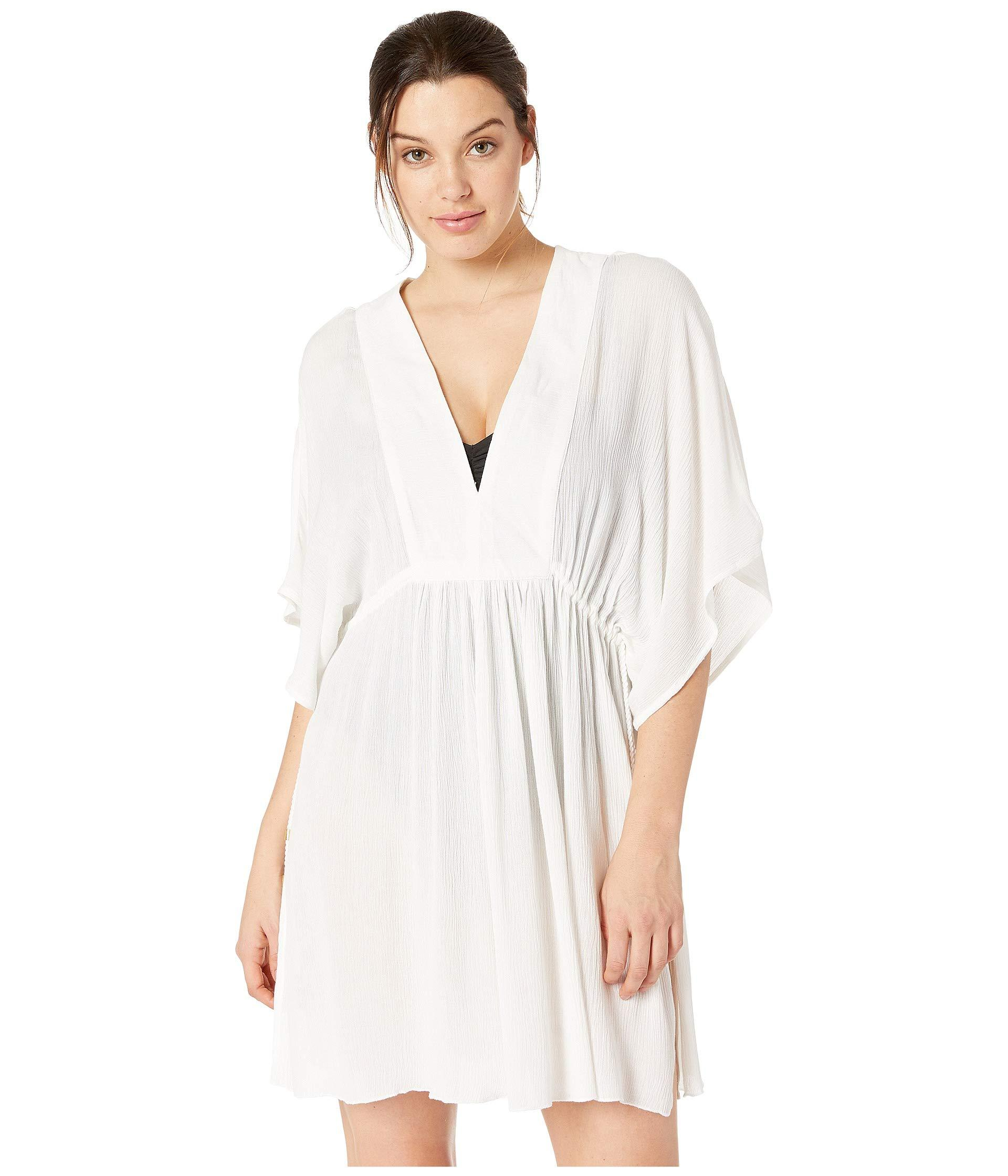 cddbc72082215 Lyst - Lauren by Ralph Lauren Crinkle Rayon Cover-up Tunic Dress ...