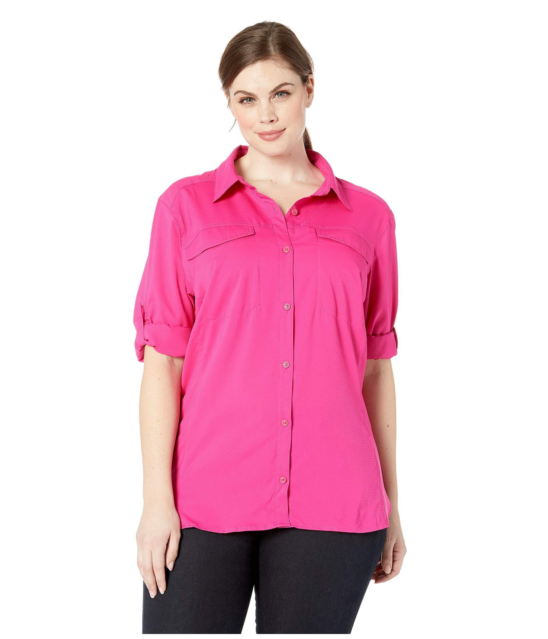 1655eda94b7 Lyst - Columbia Plus Size Silver Ridge Lite Long Sleeve Shirt (haute ...