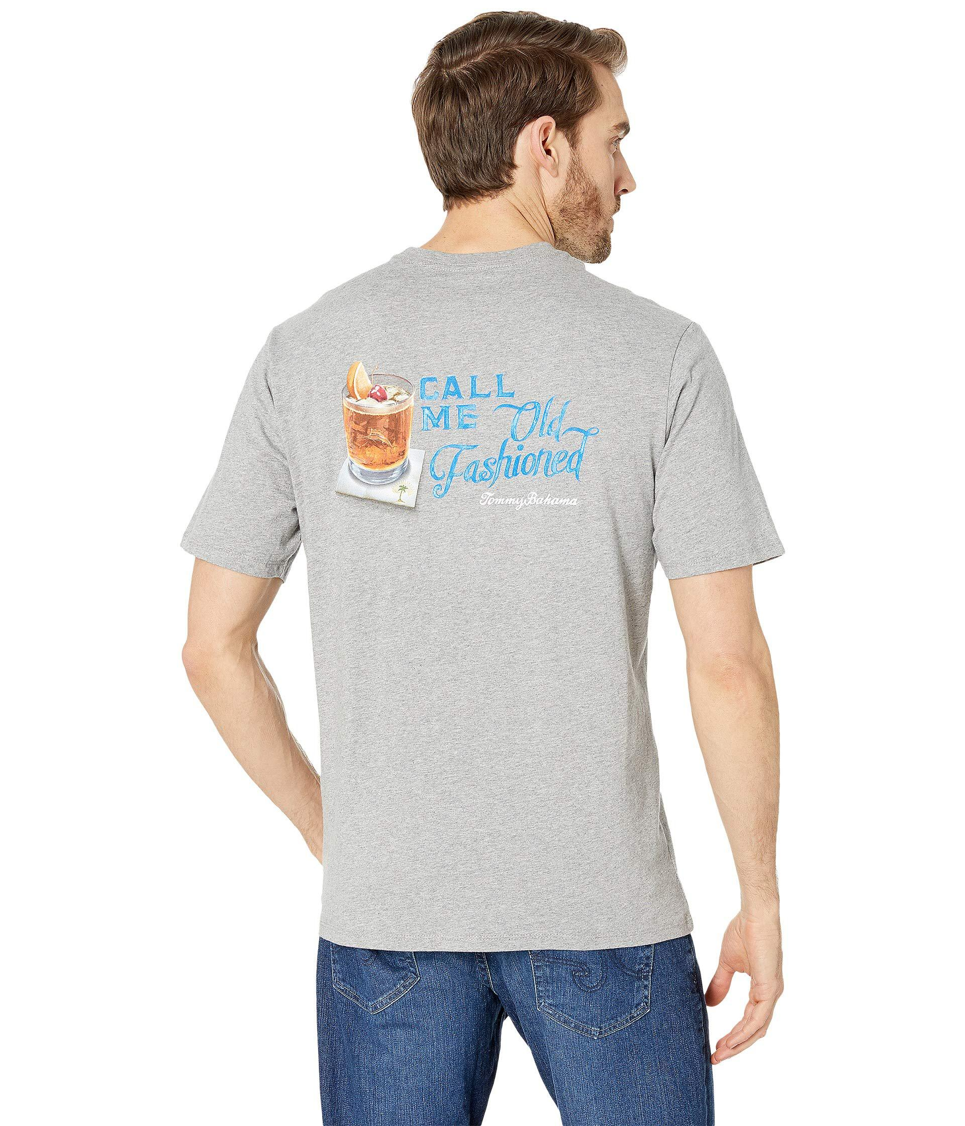 0e879603 Lyst - Tommy Bahama Call Me Old Fashioned Tee (grey Heather) Men's T ...