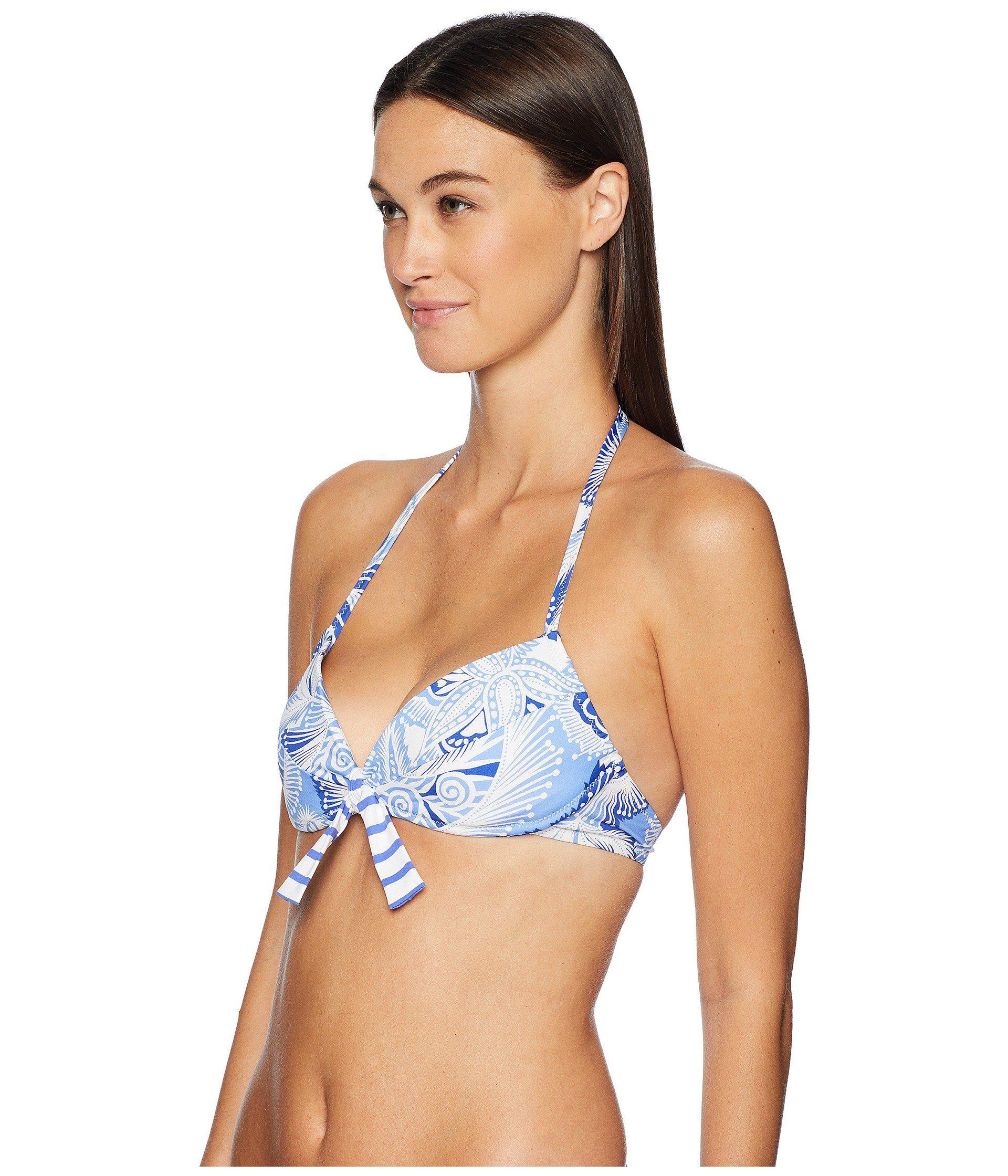 f0966133d8d50 Lyst - Letarte Paisley Print Molded Top (blue Multi) Women s Swimwear in  Blue
