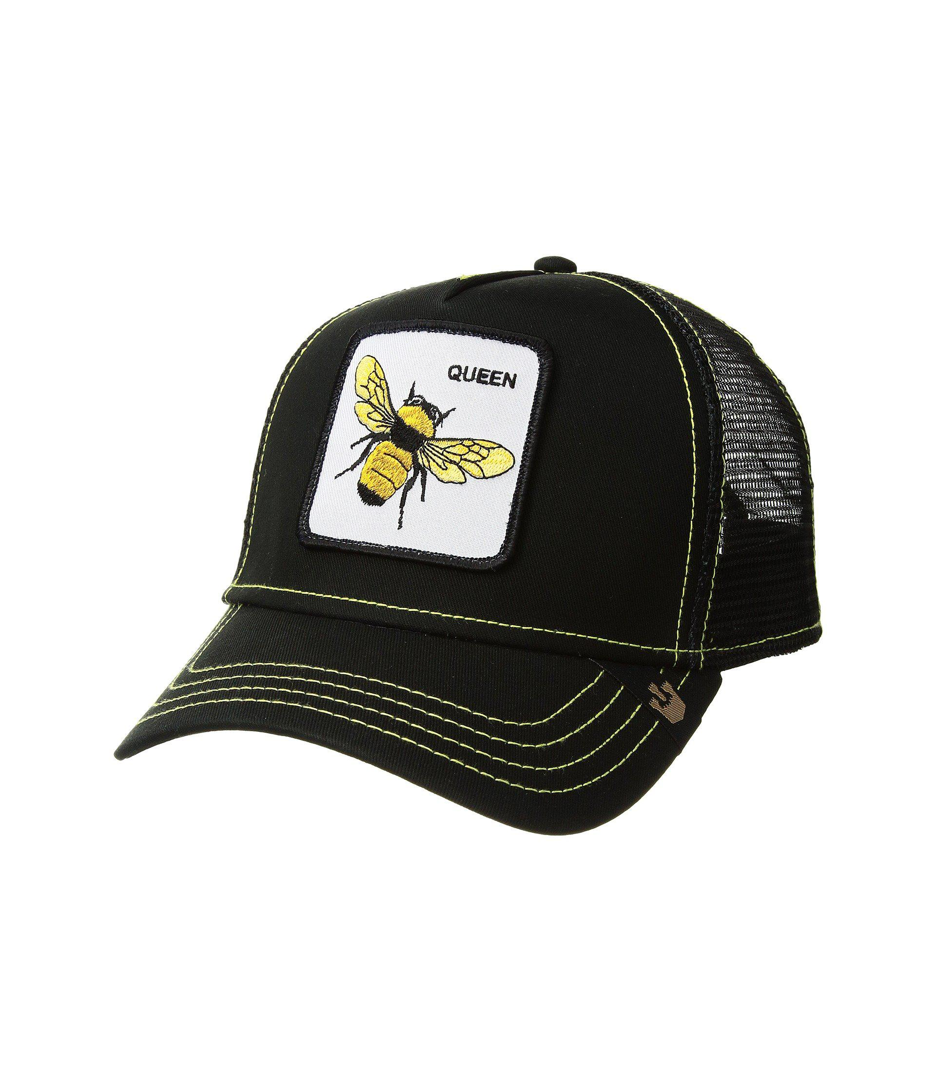Goorin Bros Black One Size Hat NEU Men/'s Queen Bee Animal Farm Trucker Cap