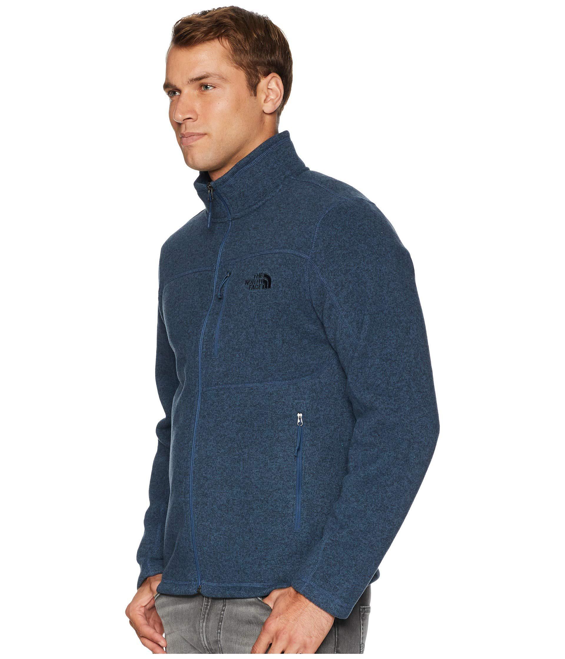 cfd870f34 The North Face Blue Gordon Lyons Full Zip (tnf Medium Grey Heather) Men's  Jacket for men