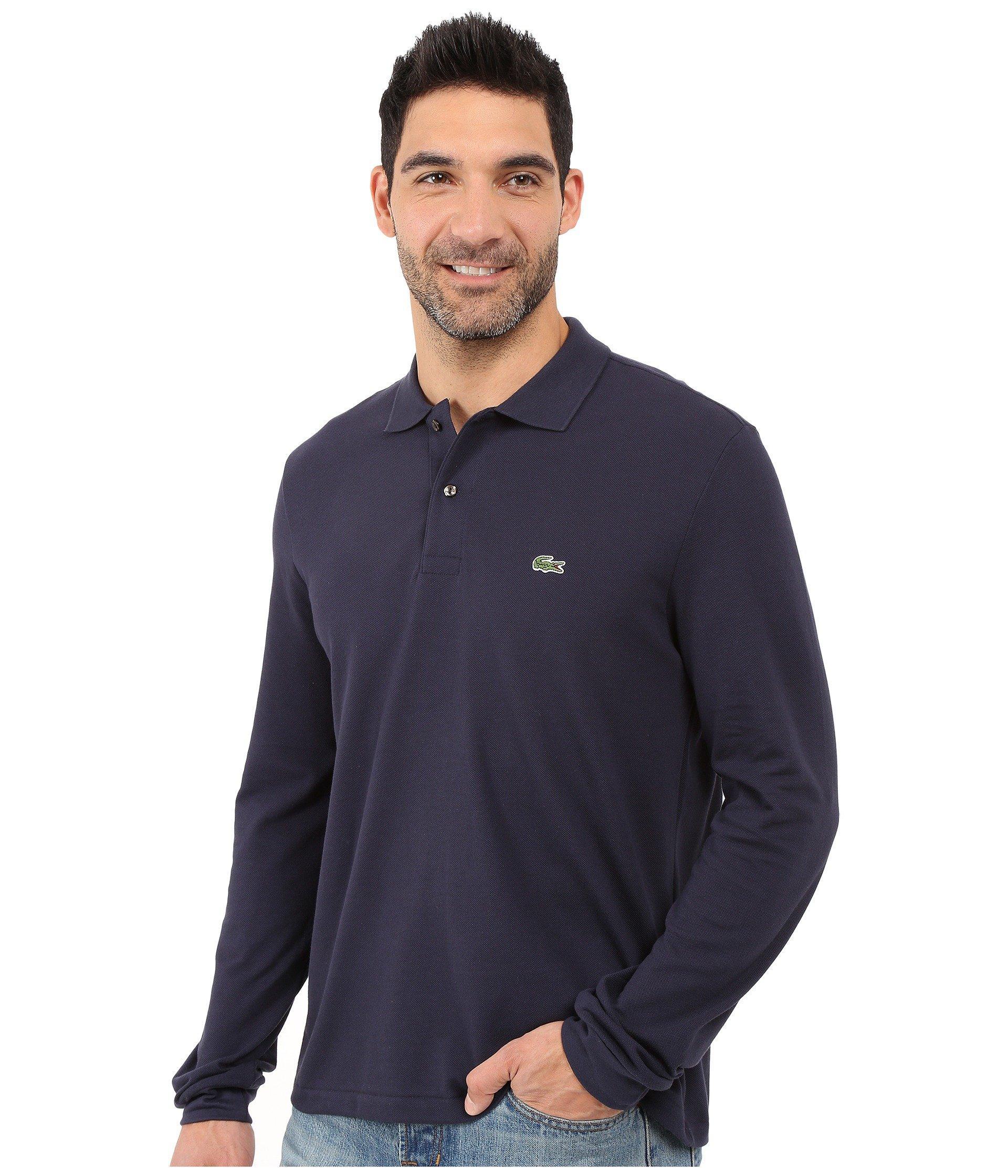 Lacoste Mens Long Sleeve Chine Classic Pique L.12.12 Original Fit Polo Shirt