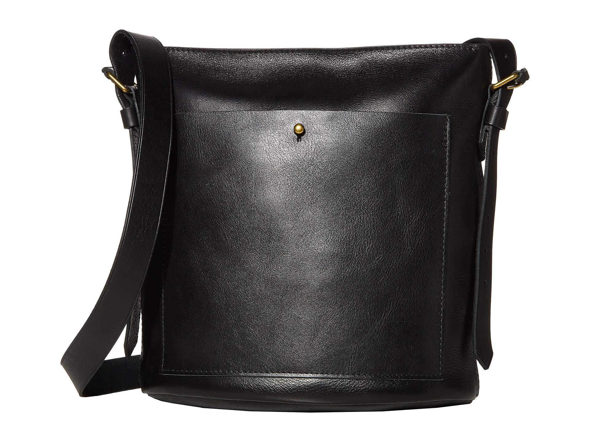 Madewell Leather Classic Transport Bucket Bag In Black Lyst