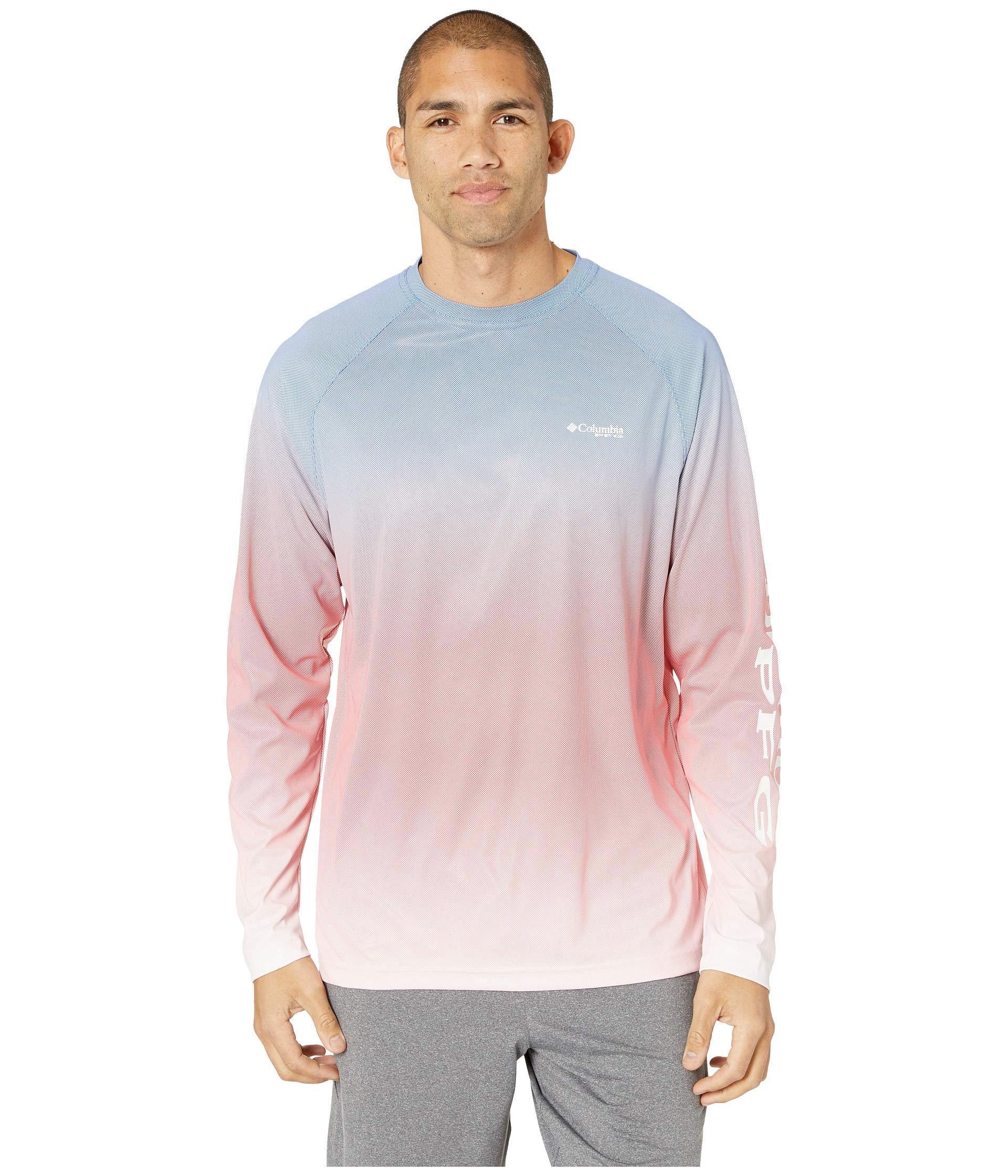 8548b122 Columbia - Pfg Terminal Deflectortm Printed Long Sleeve Shirt (vivid Blue  Gradient) Men's Long. View fullscreen