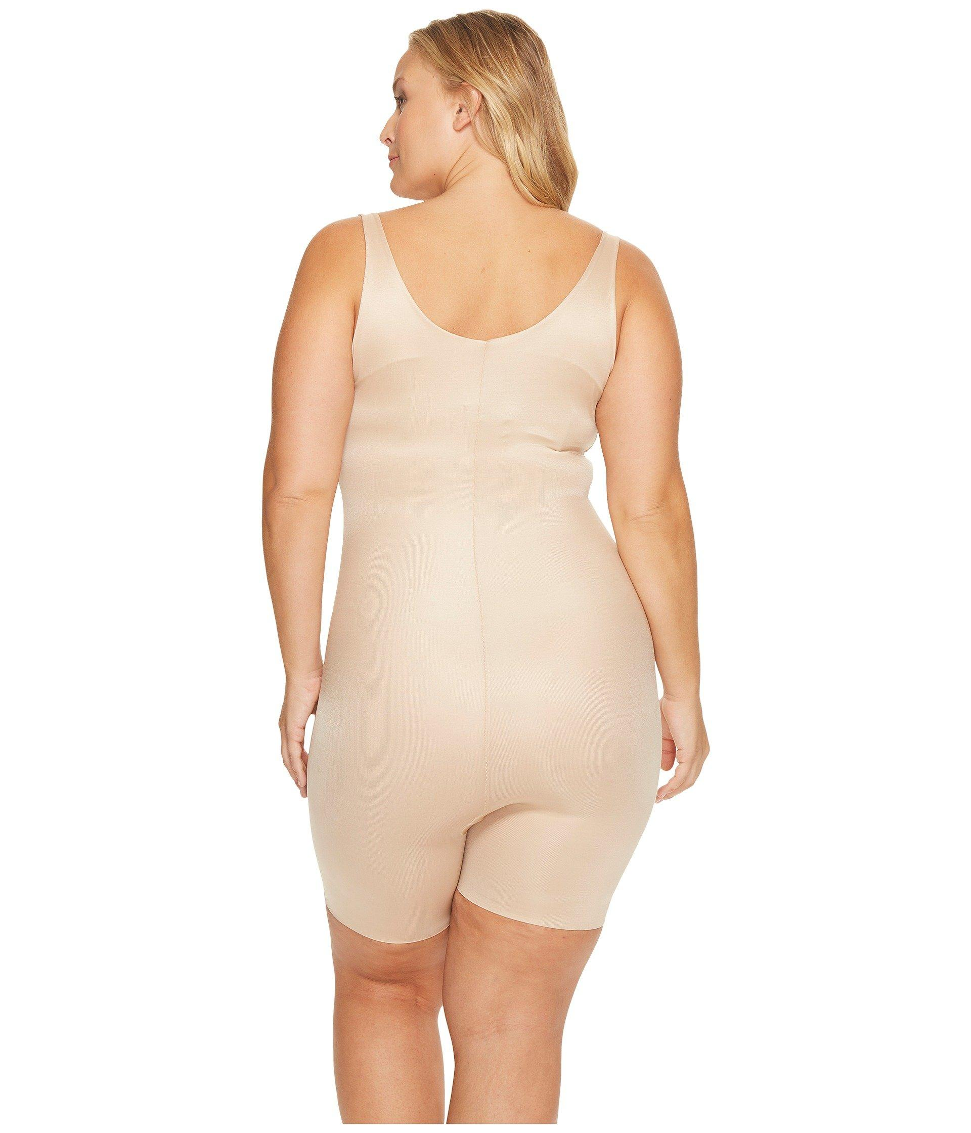 18f3c23ee Spanx - Plus Size Power Conceal-her Open-bust Mid-thigh Bodysuit (. View  fullscreen