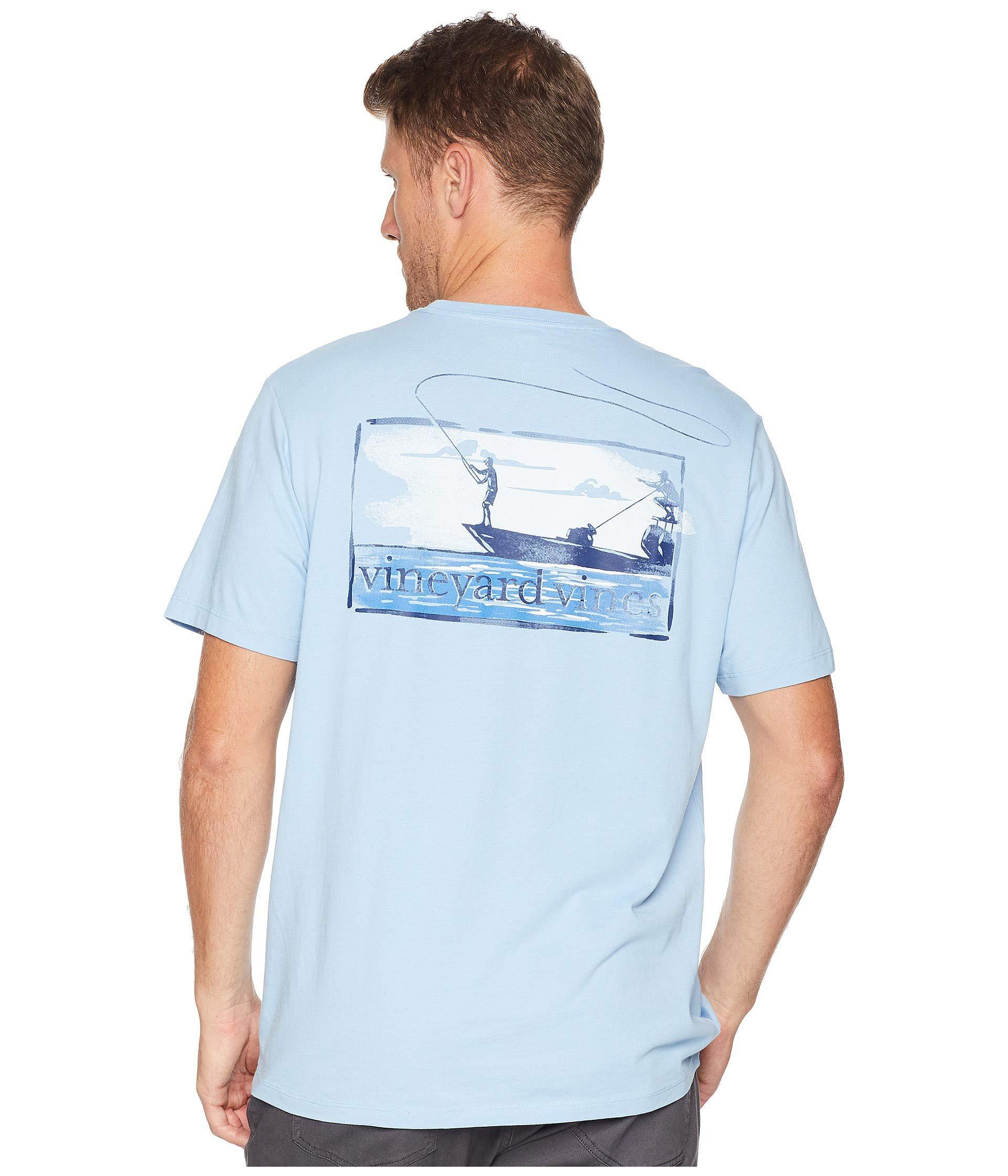 98815b99 Vineyard Vines Short Sleeve Flats Boat Fishing Pocket Tee (jake Blue ...