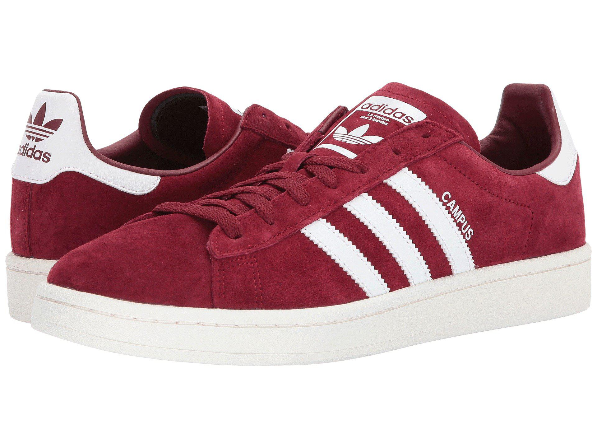 7aba9ad0386ebb adidas Originals. Campus (burgundy white chalk White) Men s Classic Shoes