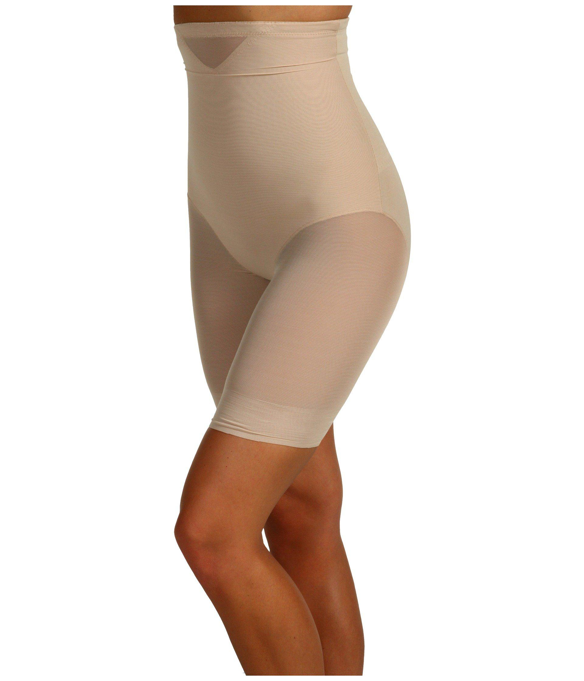 1b1c73f87a7 Lyst - Miraclesuit Extra Firm Sexy Sheer Shaping Hi-waist Thigh Slimmer  (black) Women s Underwear in Natural