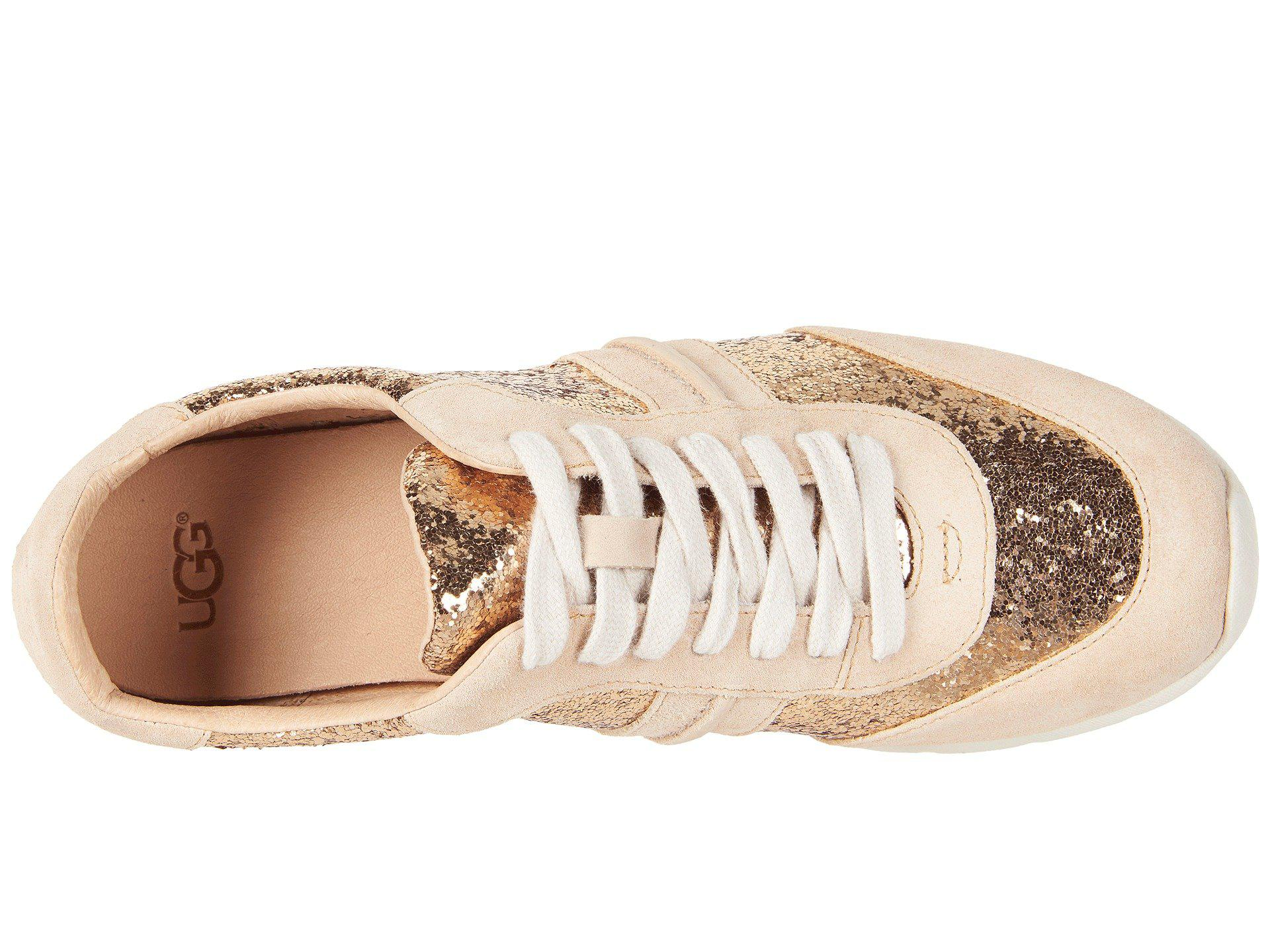 855ee3fb469 Ugg Metallic Jaida Glitter (gold) Lace Up Casual Shoes