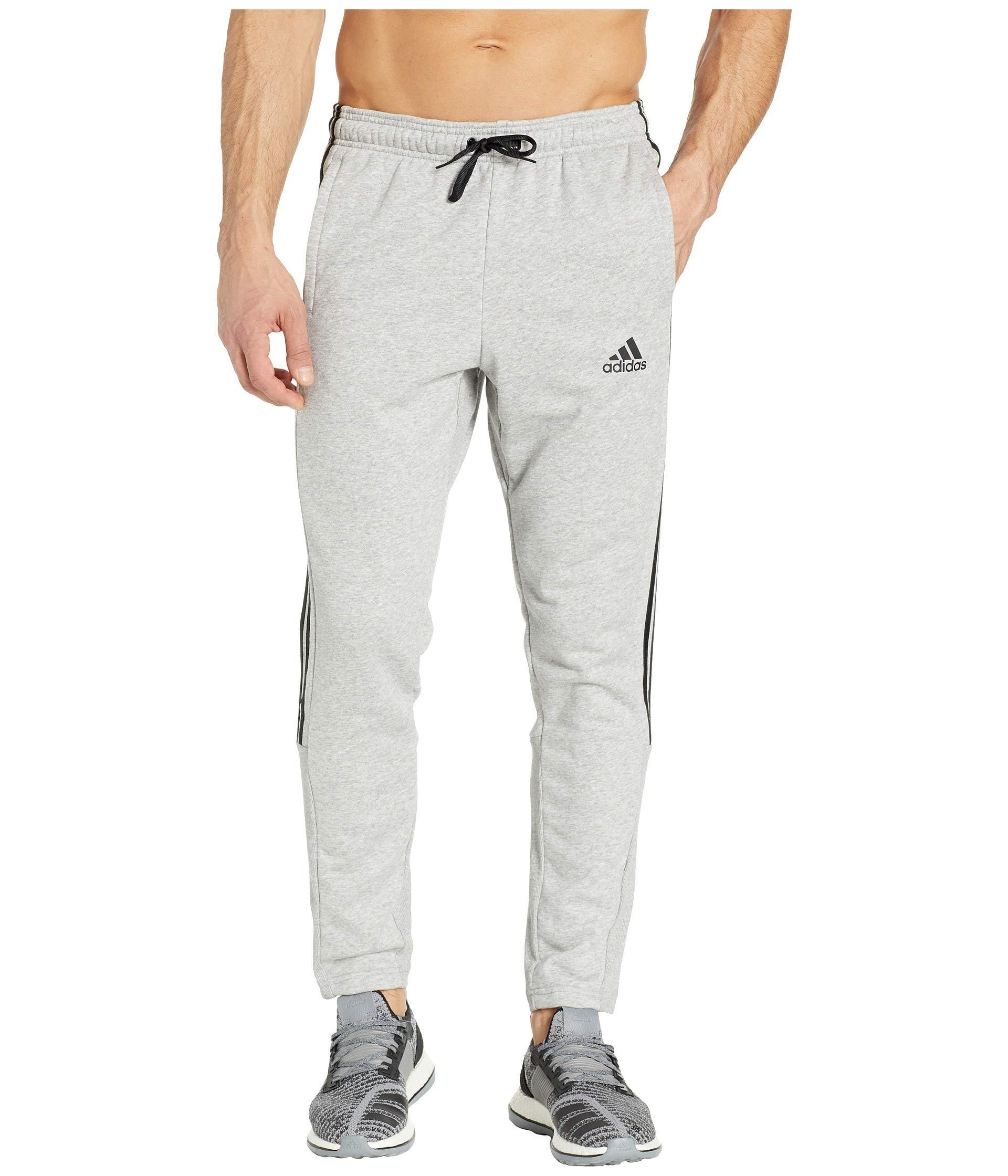 Adidas Gray Must Have 3 stripe Pants (blackwhite) Men's Workout for men