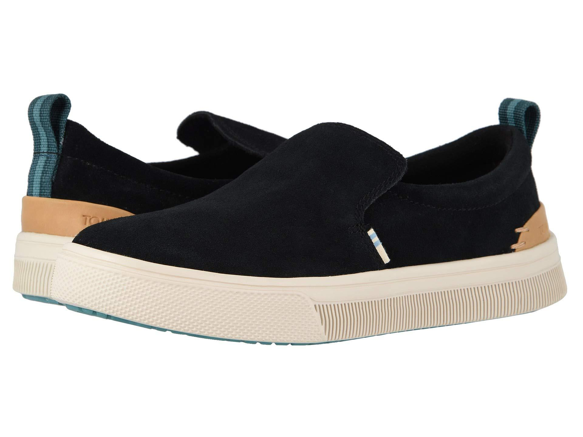 565a75bcd6f Lyst - TOMS Trvl Lite Slip-on (birch Canvas) Women s Shoes in Black