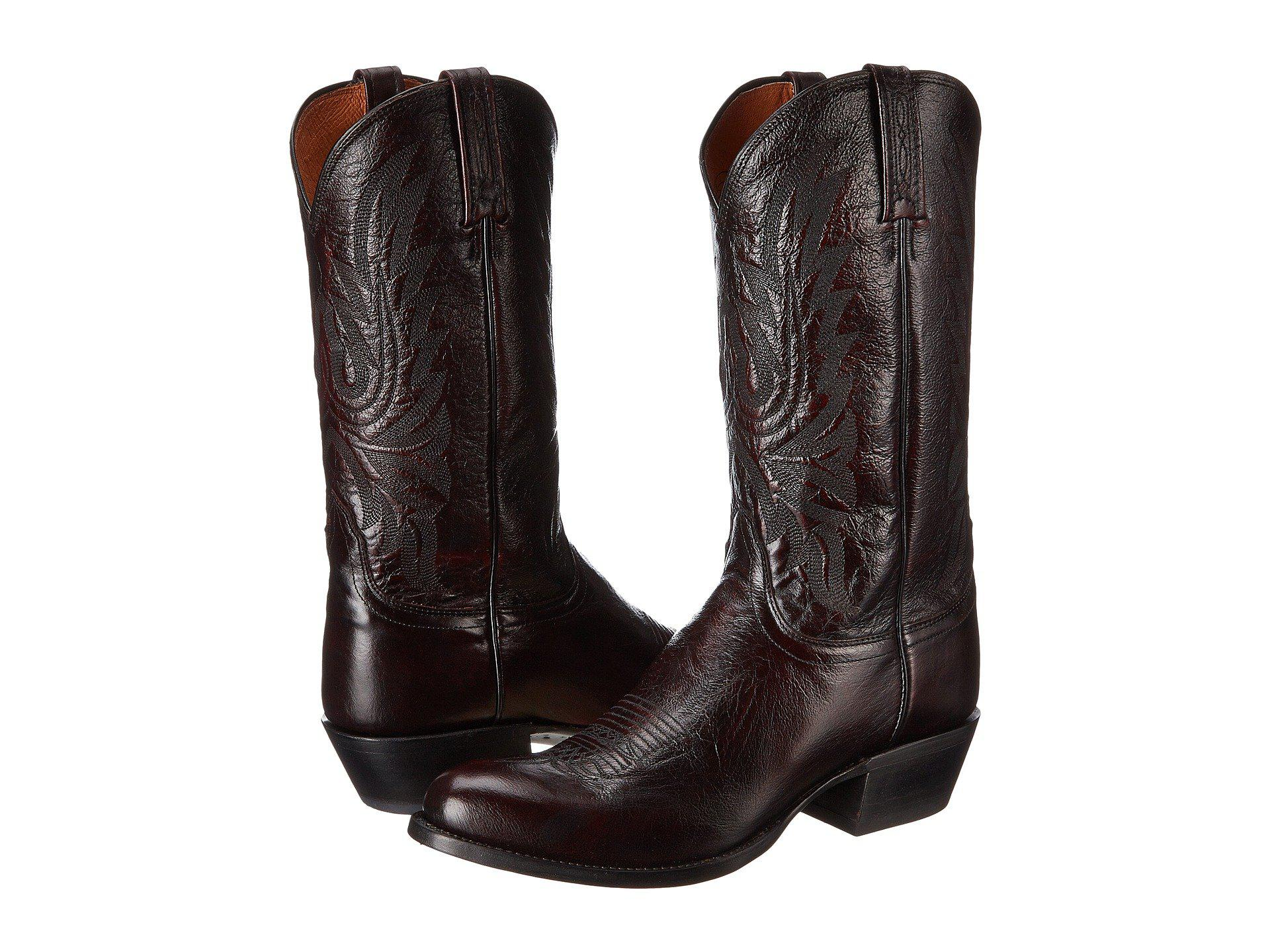 f15f685d6d7 Men's M1021.r4 (black Cherry Lonestar Calf Cowboy) Cowboy Boots
