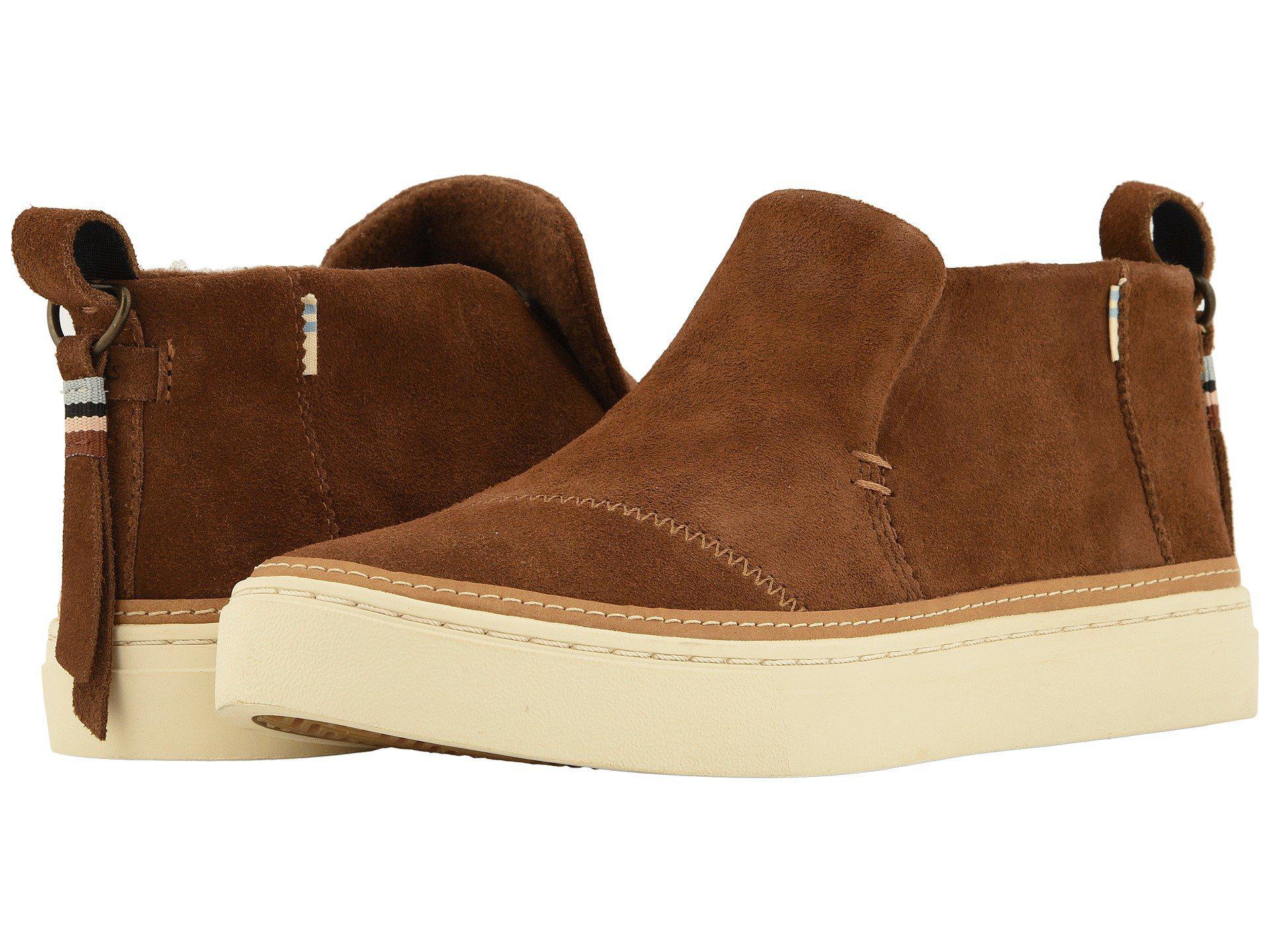 11fc30ead3d TOMS Brown Paxton Water-resistant Slip-ons (dark Amber Suede) Slip On Shoes