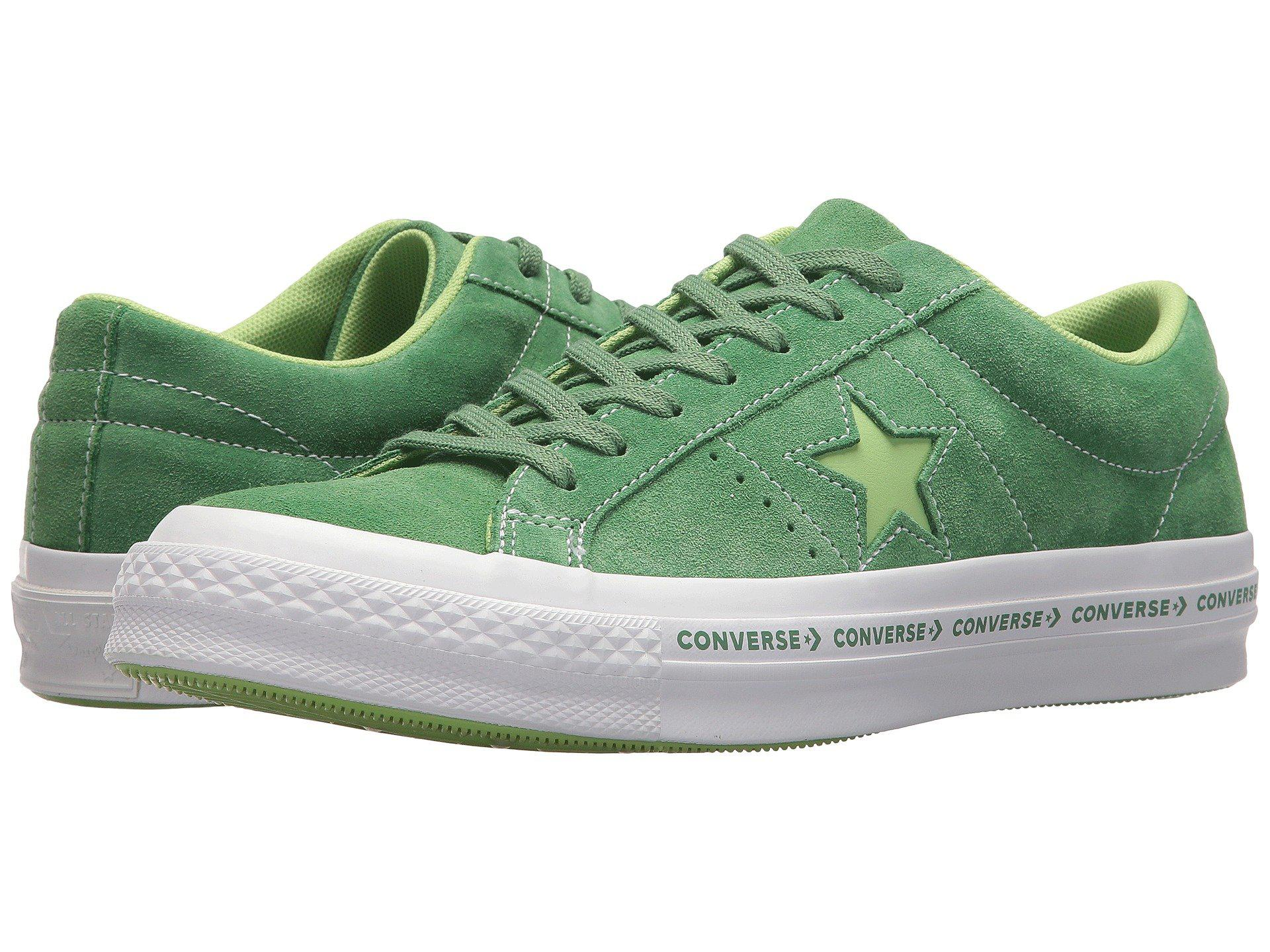 One Star Ox Trainers in Mint Green
