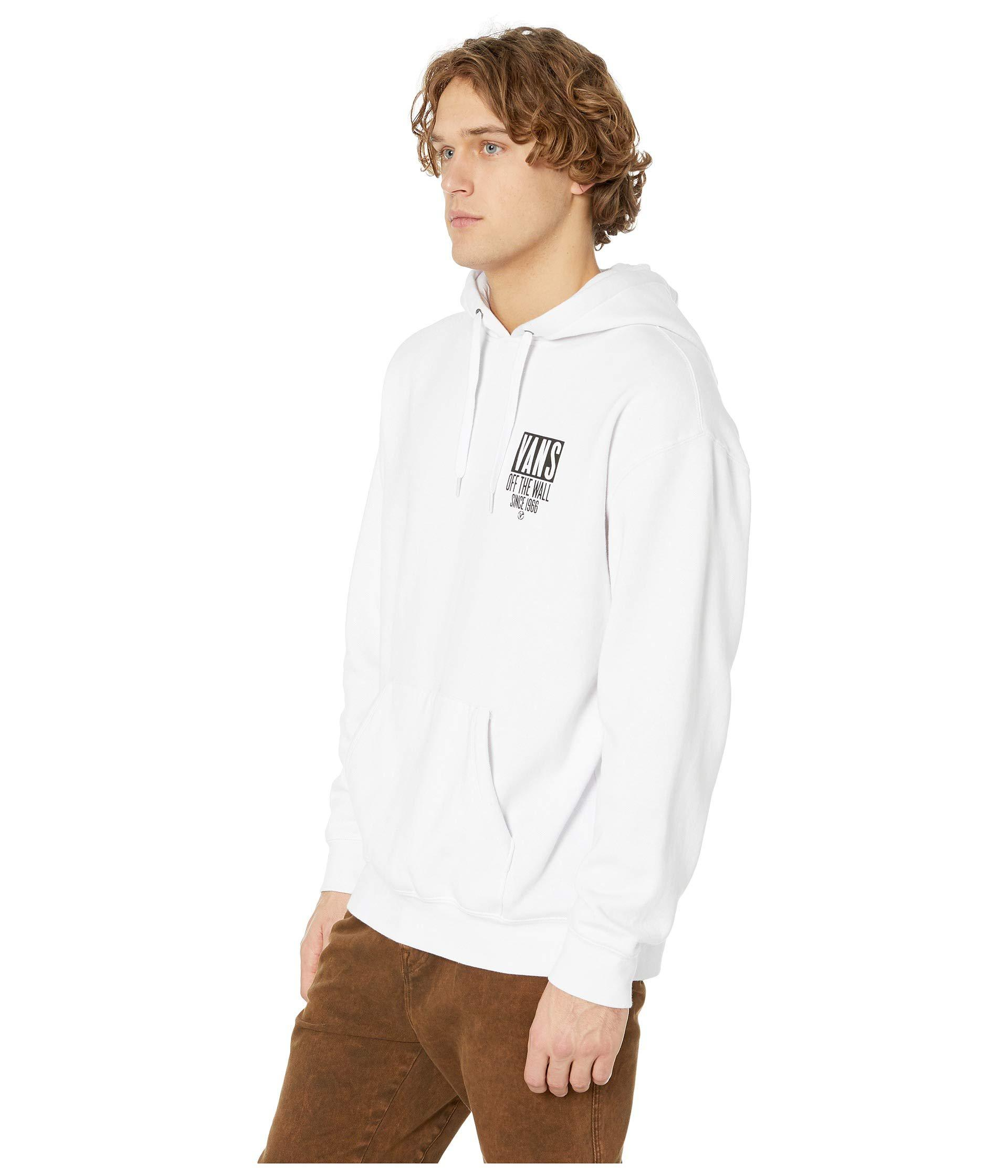 af3a59aedf0a05 Lyst - Vans Type Stacker Over Fleece (white) Men s Clothing in White for Men