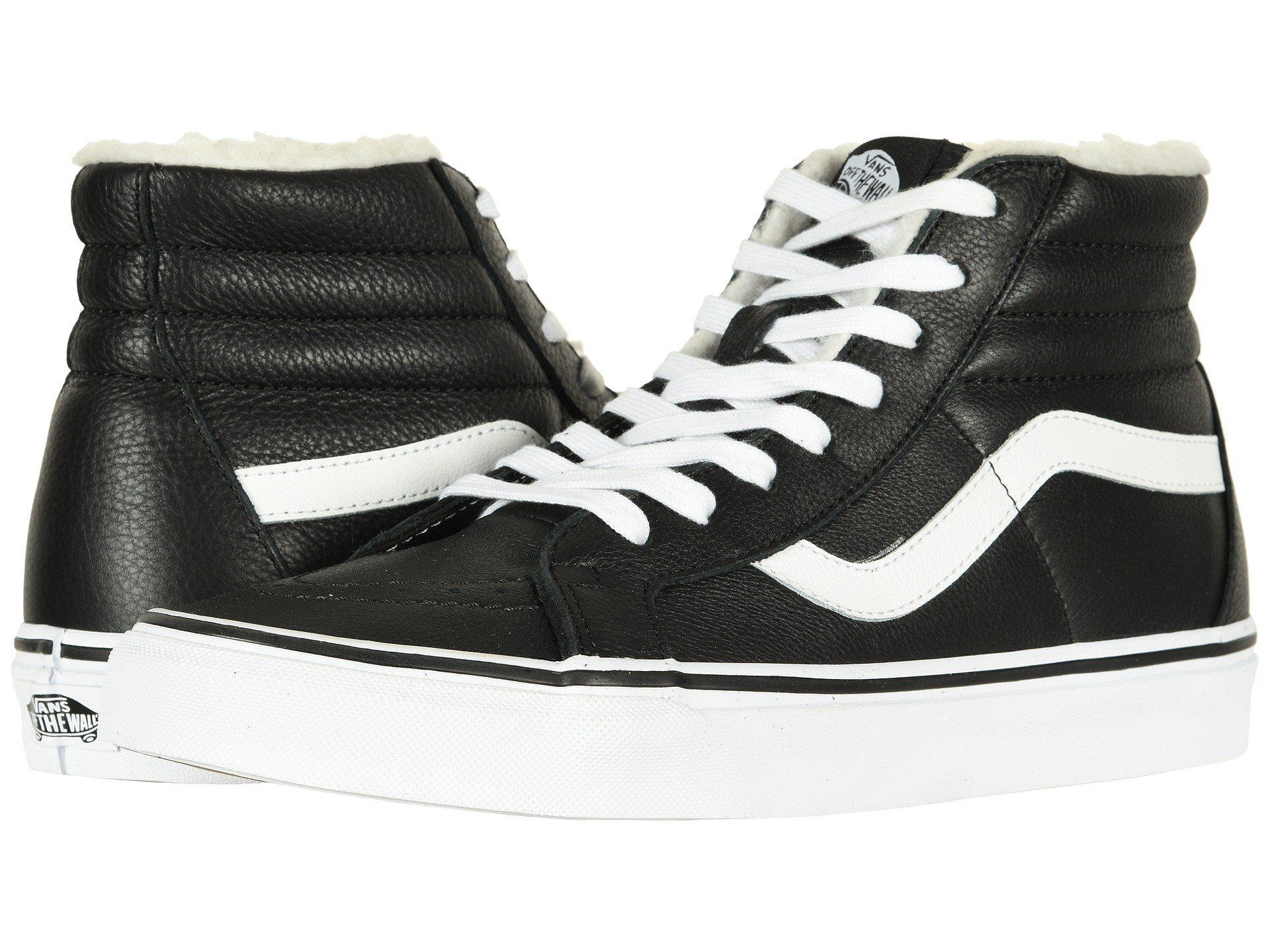41c119bf0e Lyst - Vans Sk8-hi Reissue ((leather fleece) Black true White 2 ...