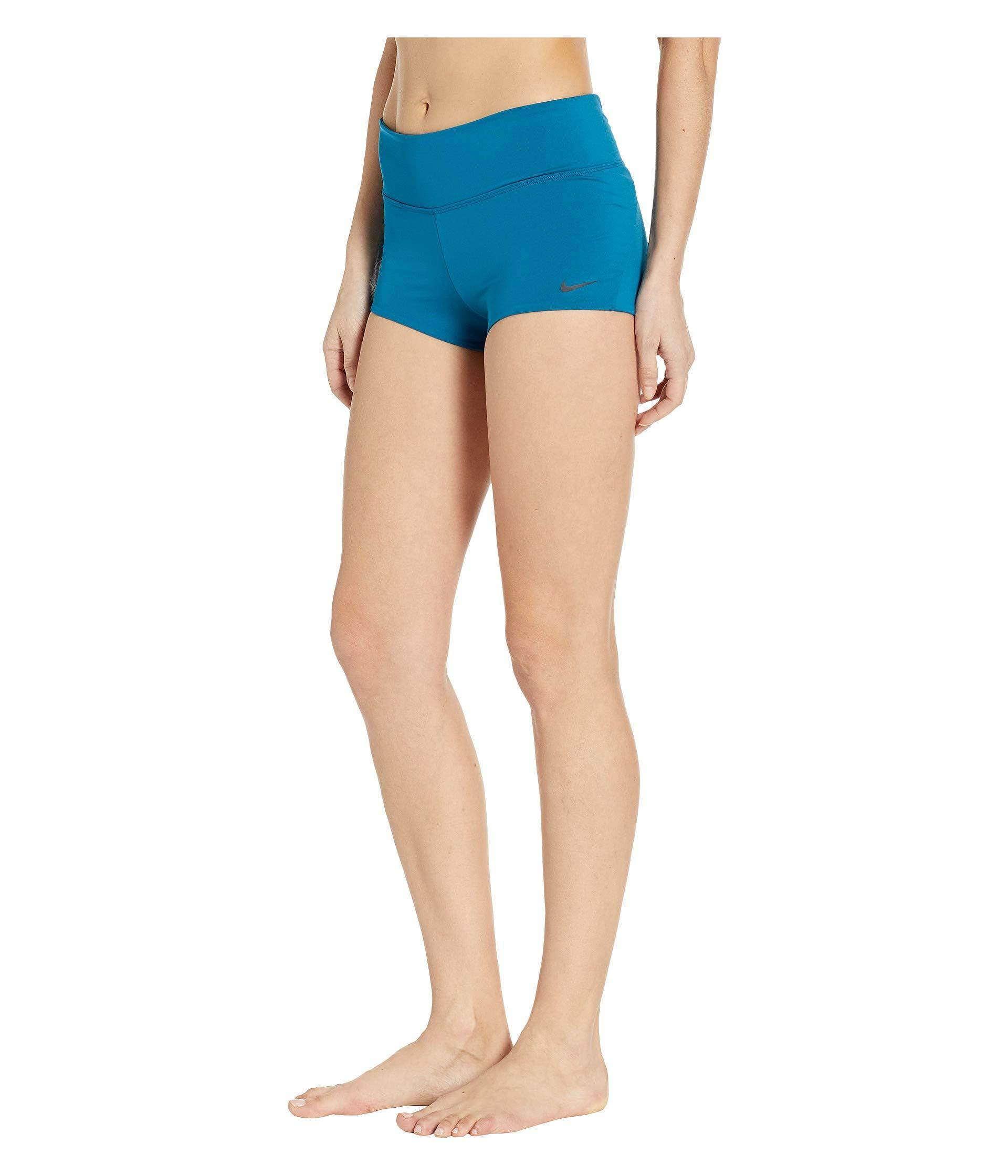 d05b770dcb Nike Solid Kick Shorts (monsoon Blue) Women's Swimwear in Blue - Lyst