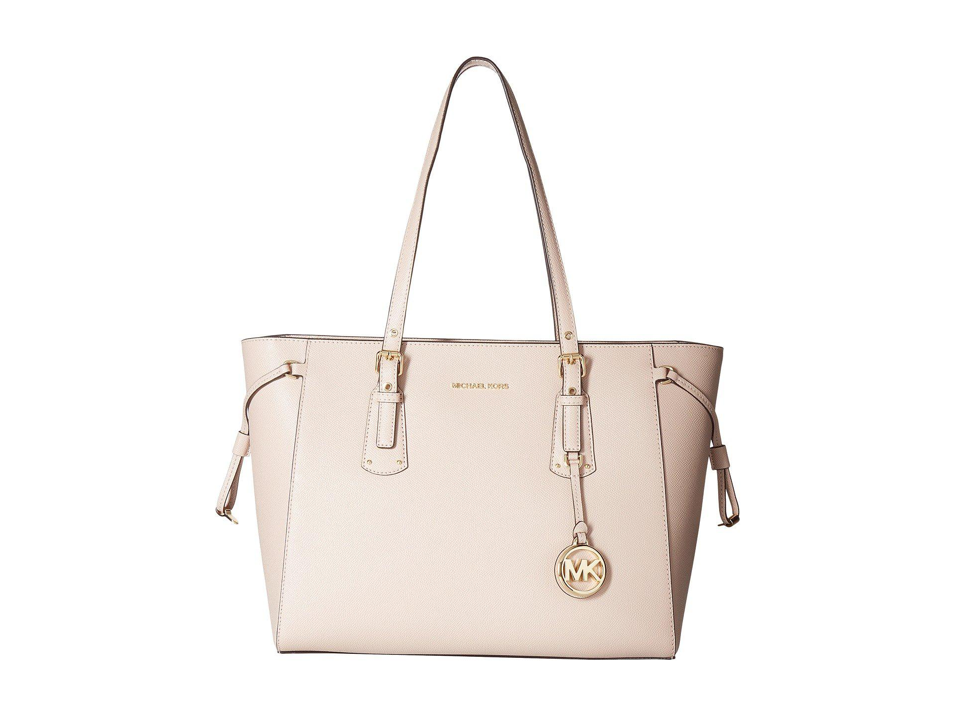 005ce9a7d695b9 MICHAEL Michael Kors - Pink Voyager Medium Top Zip Tote (black) Tote  Handbags -. View fullscreen