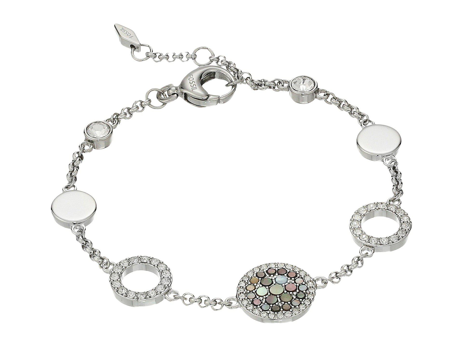 Fossil Women's Silver Bracelet JF02311040 6Q74kOpR