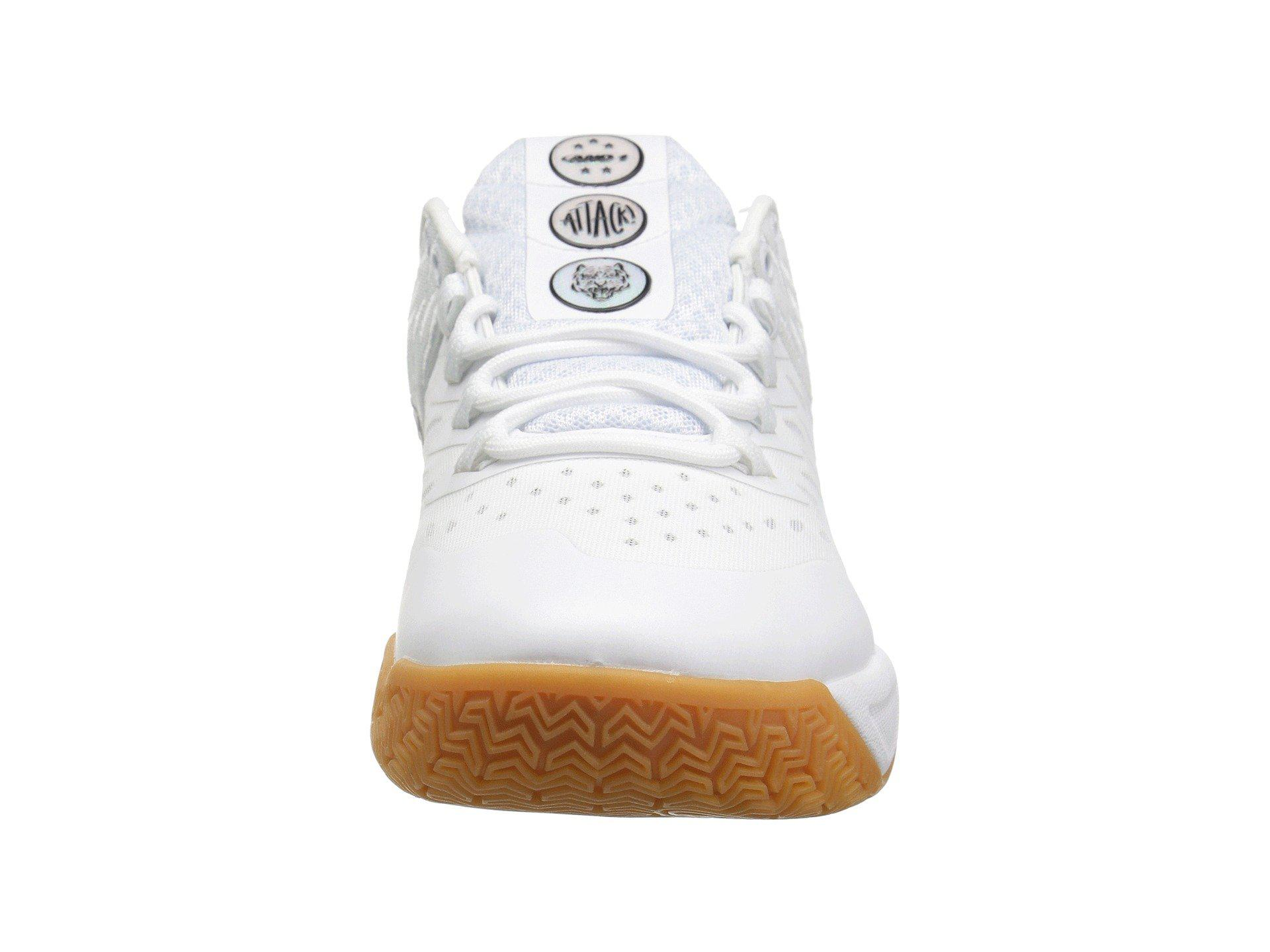 276596624390a Men's White Attack Low Basketball Shoe