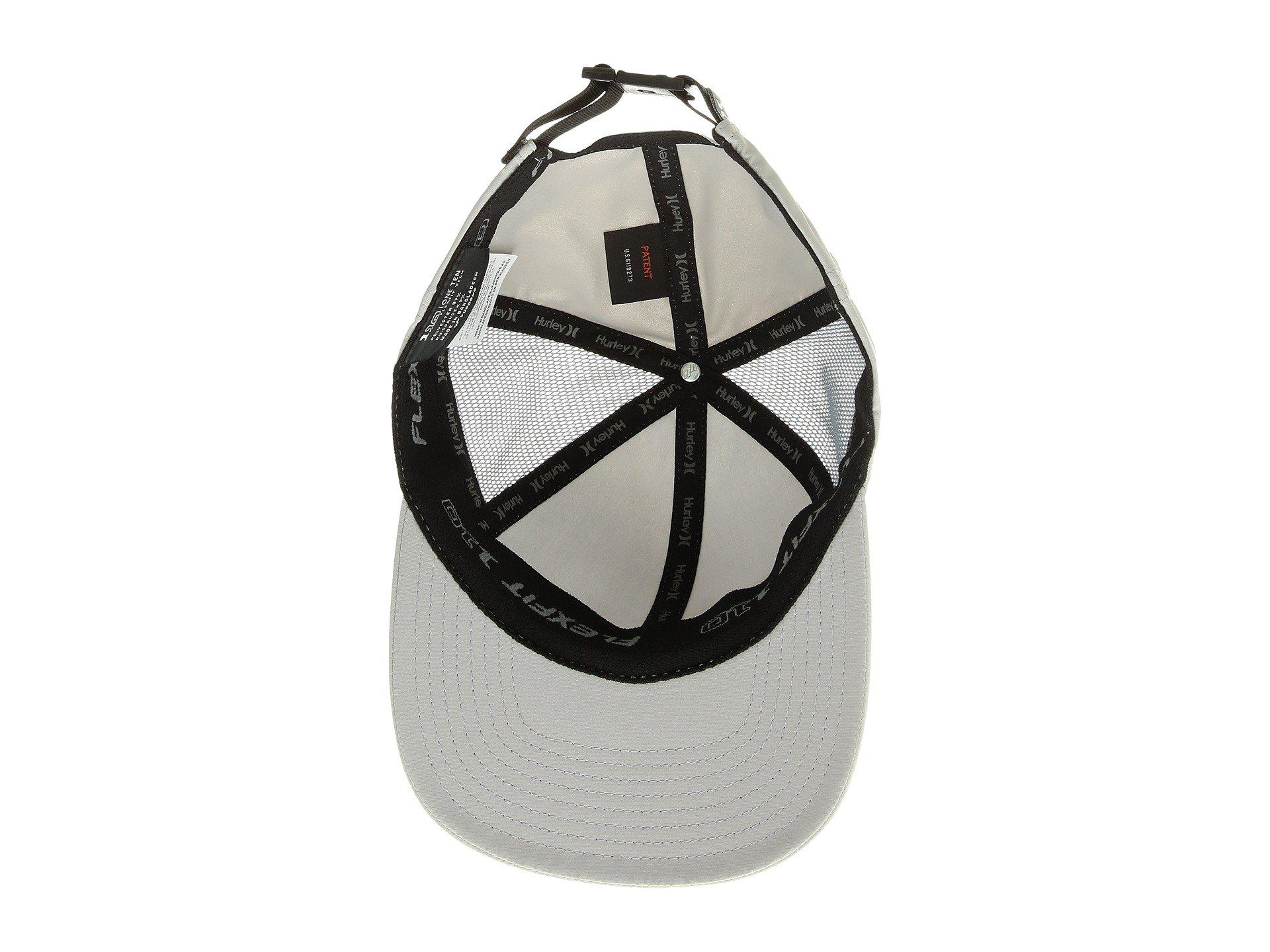 Wolf Grey Hurley Men/'s Layback Hat Cap