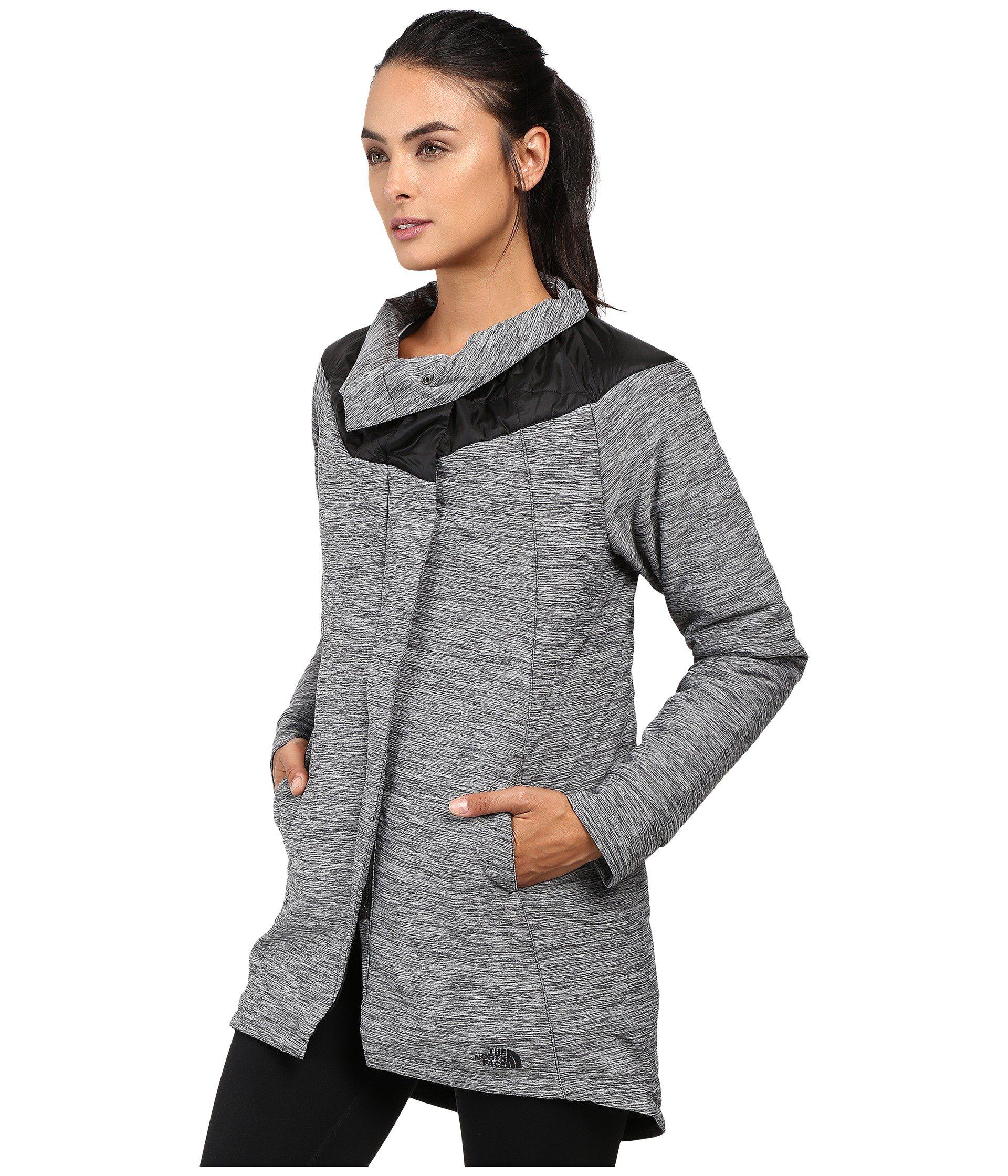 884bfb356f7a Lyst - The North Face Long Pseudio Jacket in Gray