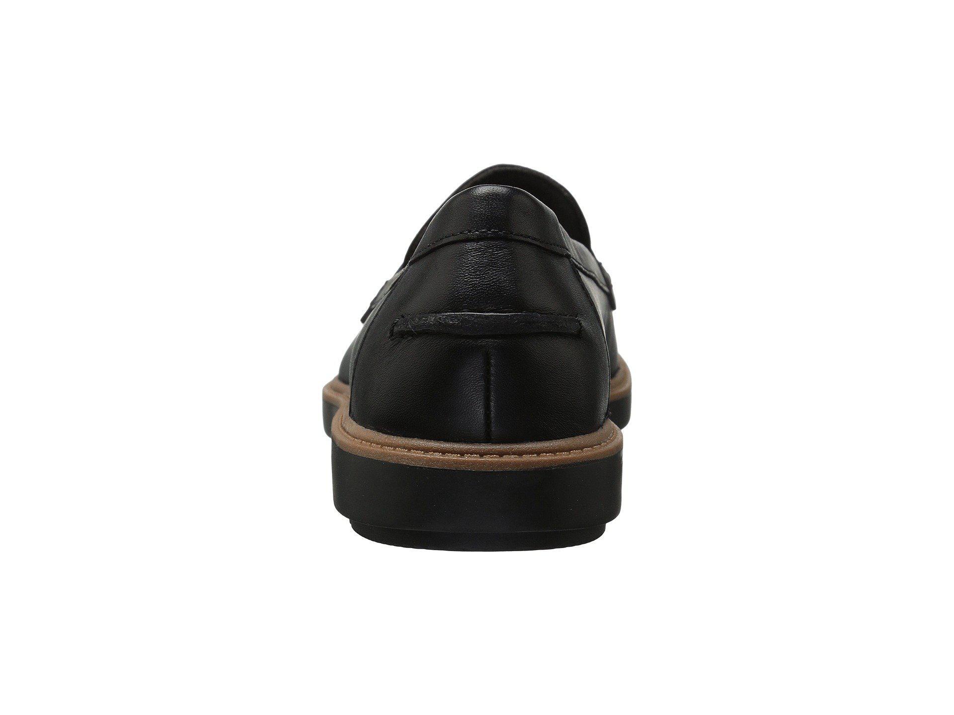 8a893559899 Lyst - Clarks Raisie Eletta (black Leather) Women s Slip On Shoes in Black  - Save 53%