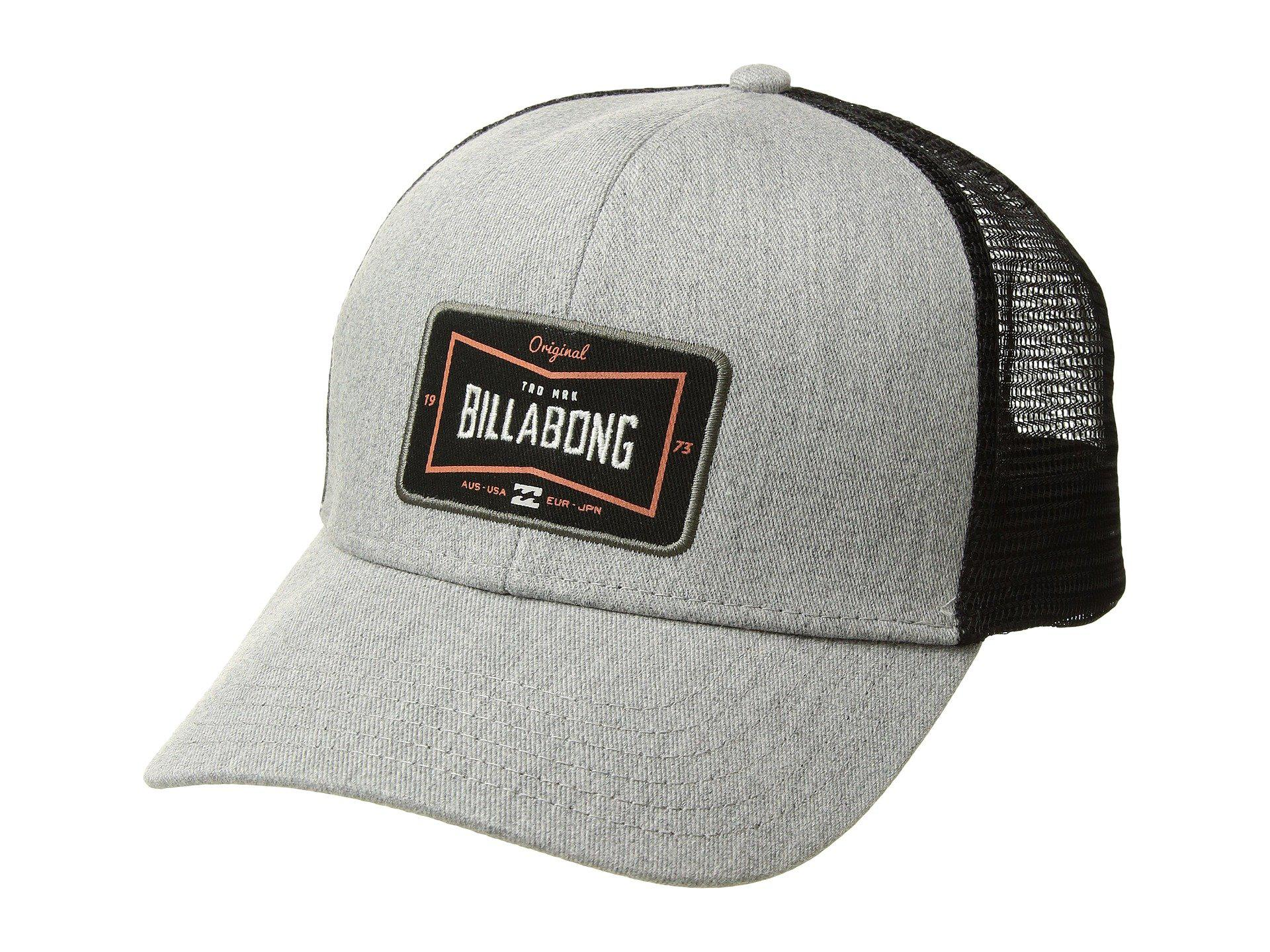 watch e33a4 a8e1e Billabong Walled Trucker Cap (grey Heather) Baseball Caps in Gray ...