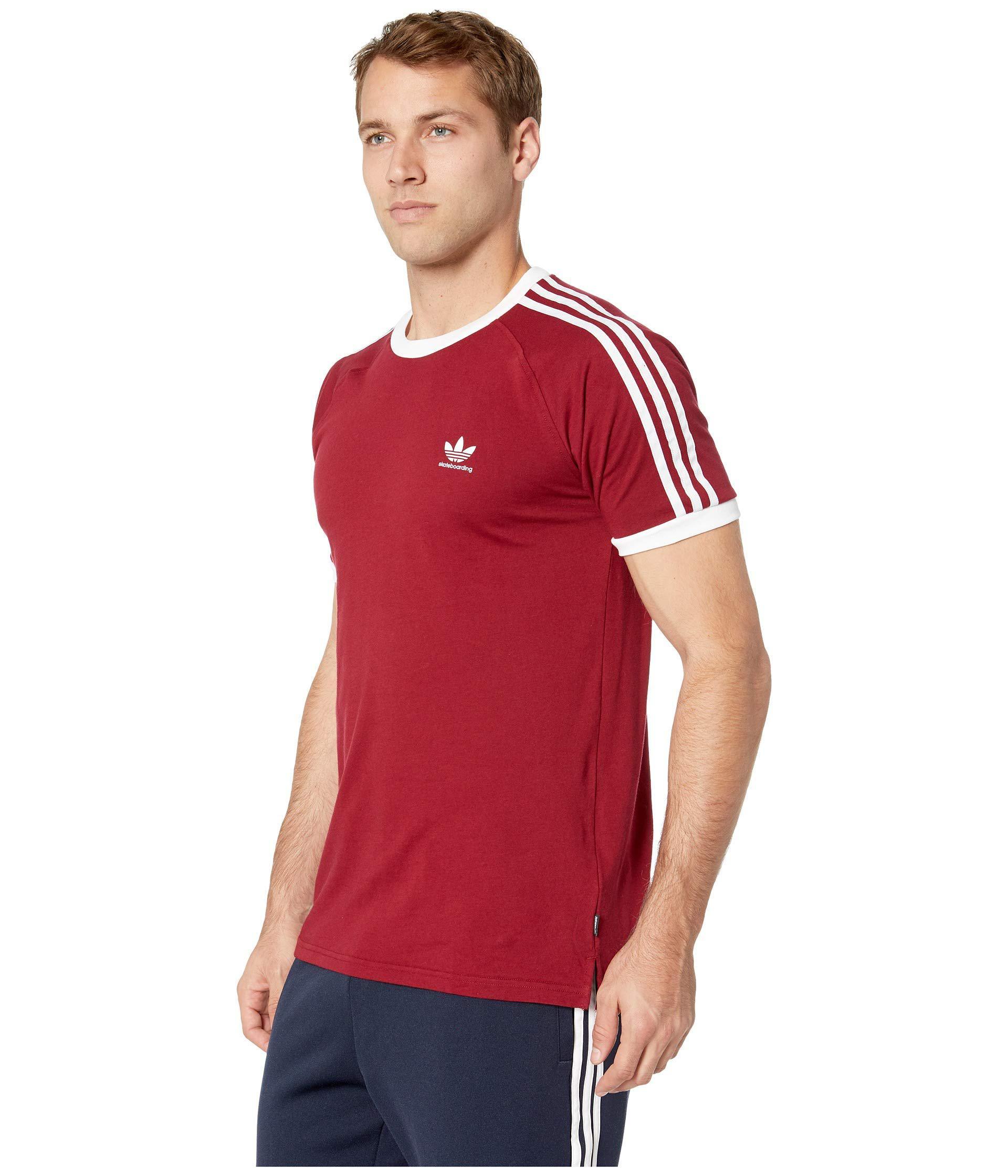 fc27c1d310a6e8 Lyst - adidas Originals California 2.0 Tee (black white) Men s T Shirt in  Red for Men