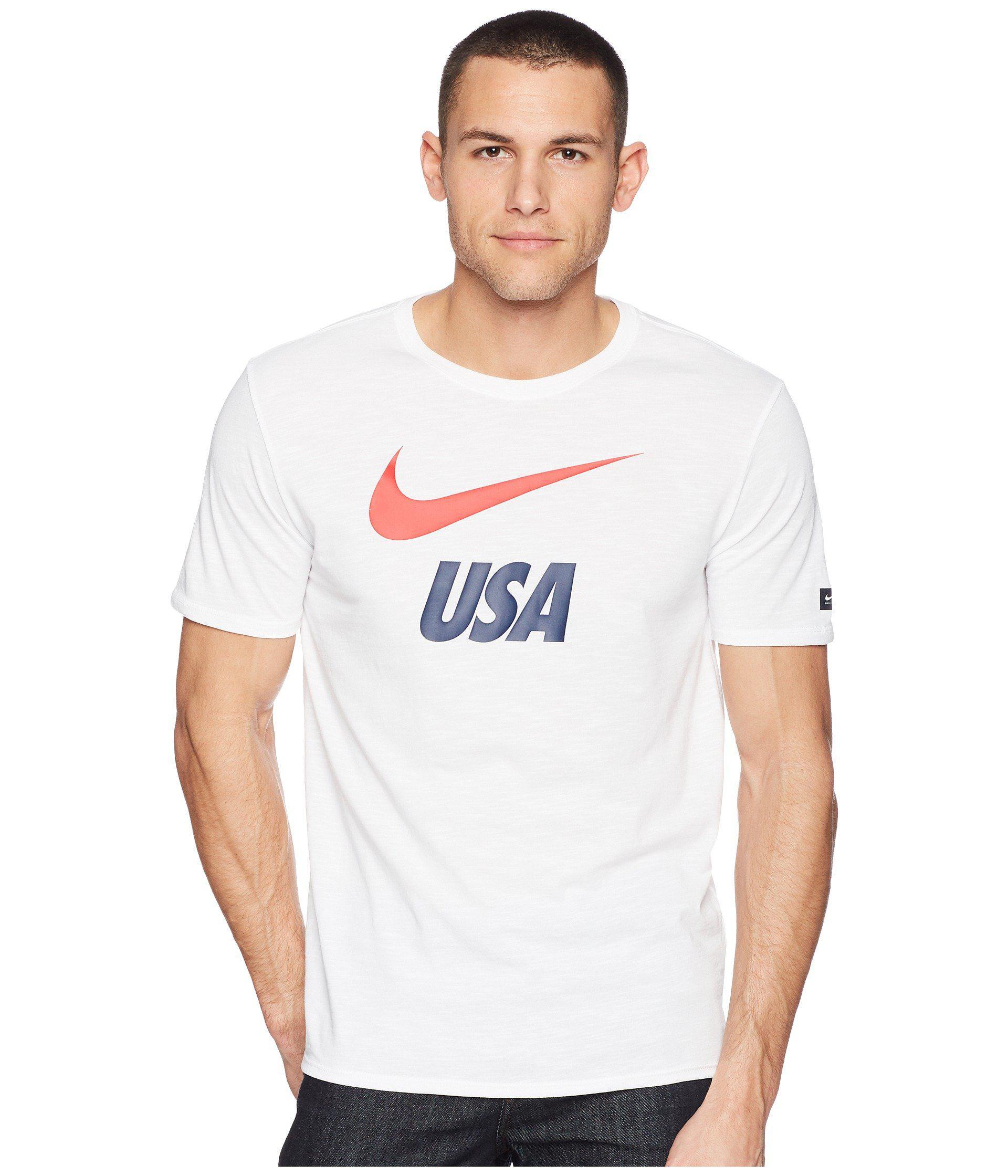 ad0eb9a9f101e Lyst - Nike Usa Dry Tee Slub Preseason (university Red) Men s T ...
