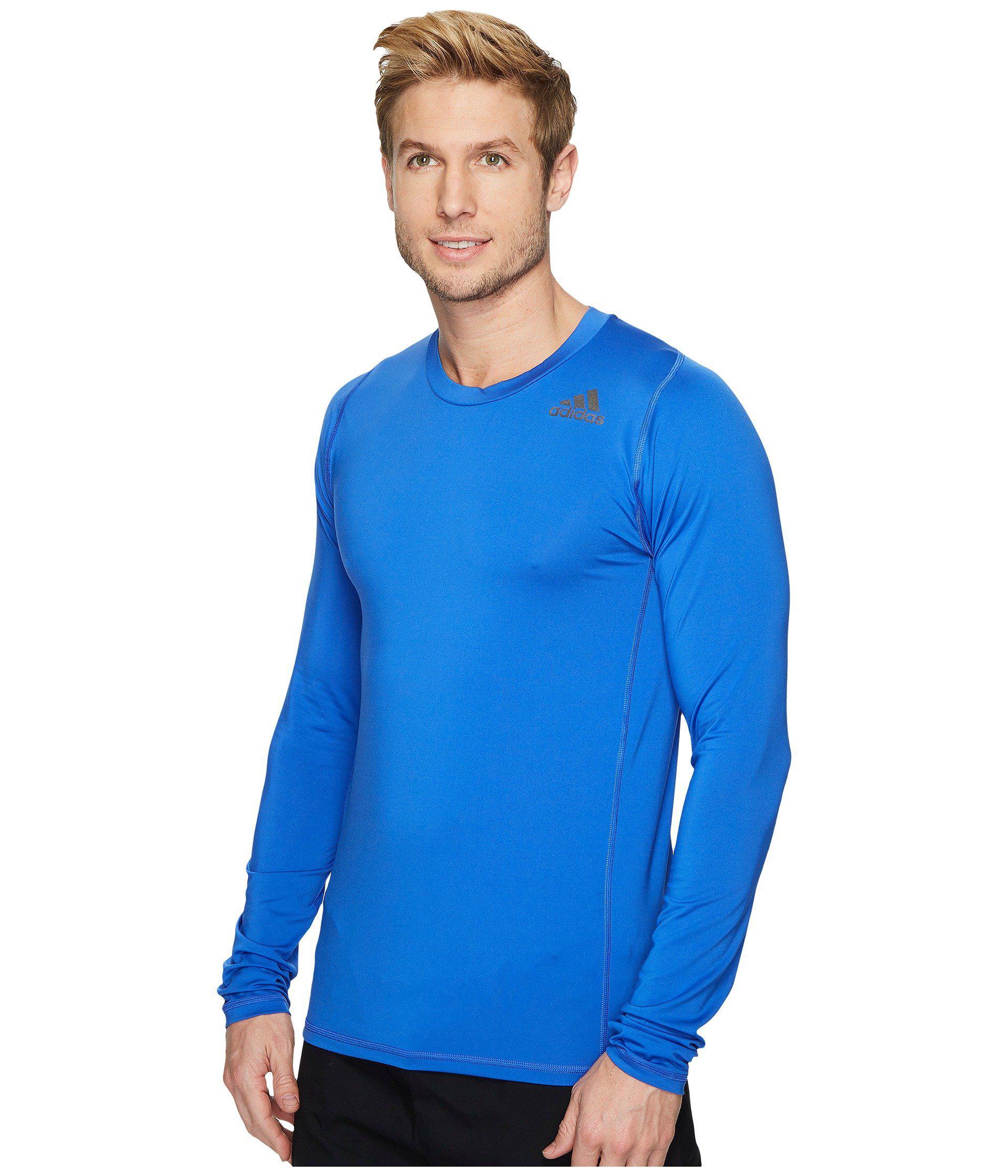 f76b444105abb Men's Blue Alphaskin Sport Fitted Long Sleeve Tee