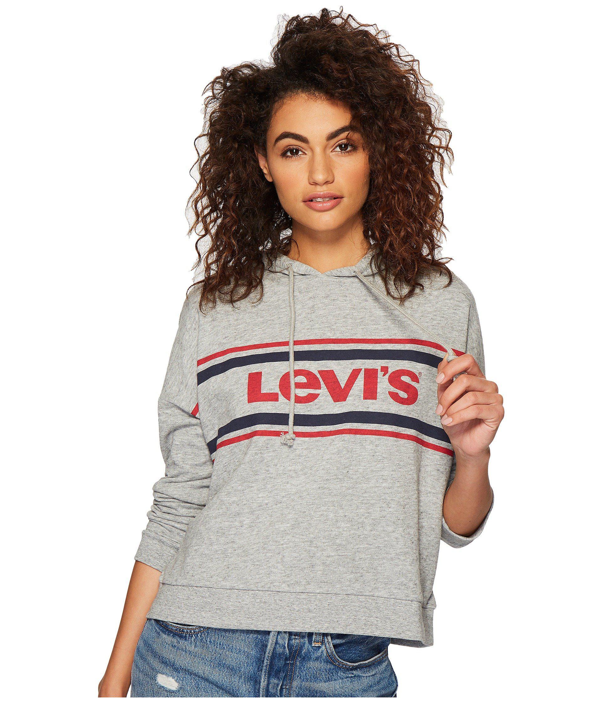 4145e730223 Lyst - Levi s Levi s(r) Womens Graphic Track Hoodie (sportswear Logo ...