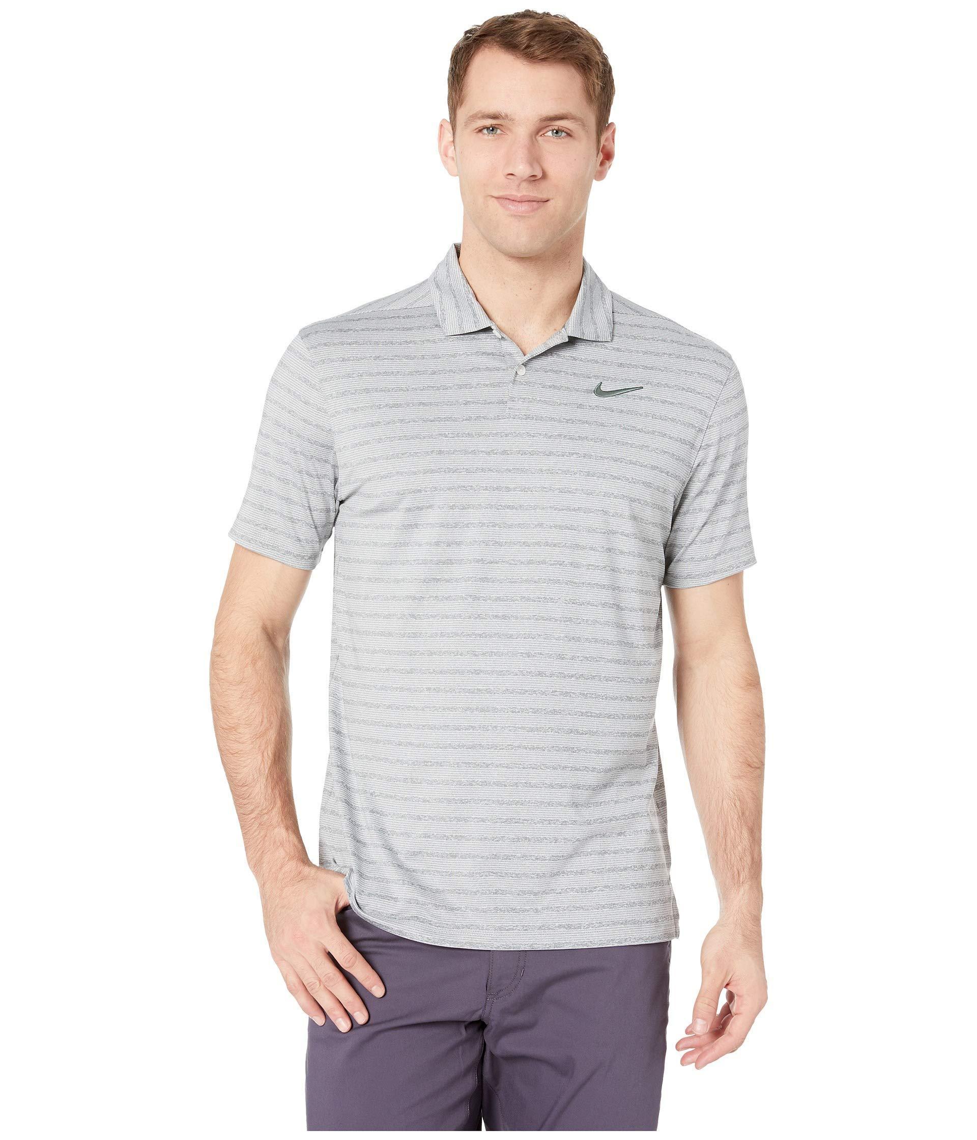 6d428890f Nike Dry Vapor Stripe Polo (aviator Grey/aviator Grey) Men's ...