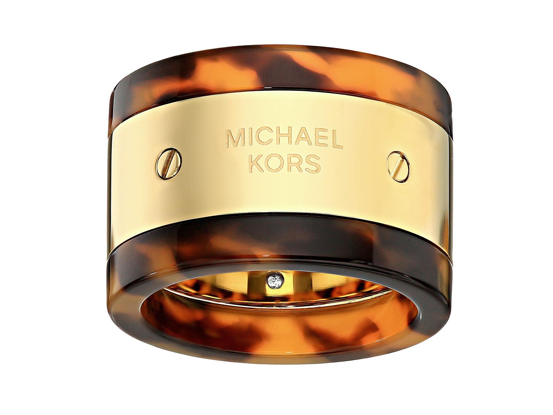 Michael Kors Logo Plaque Ring