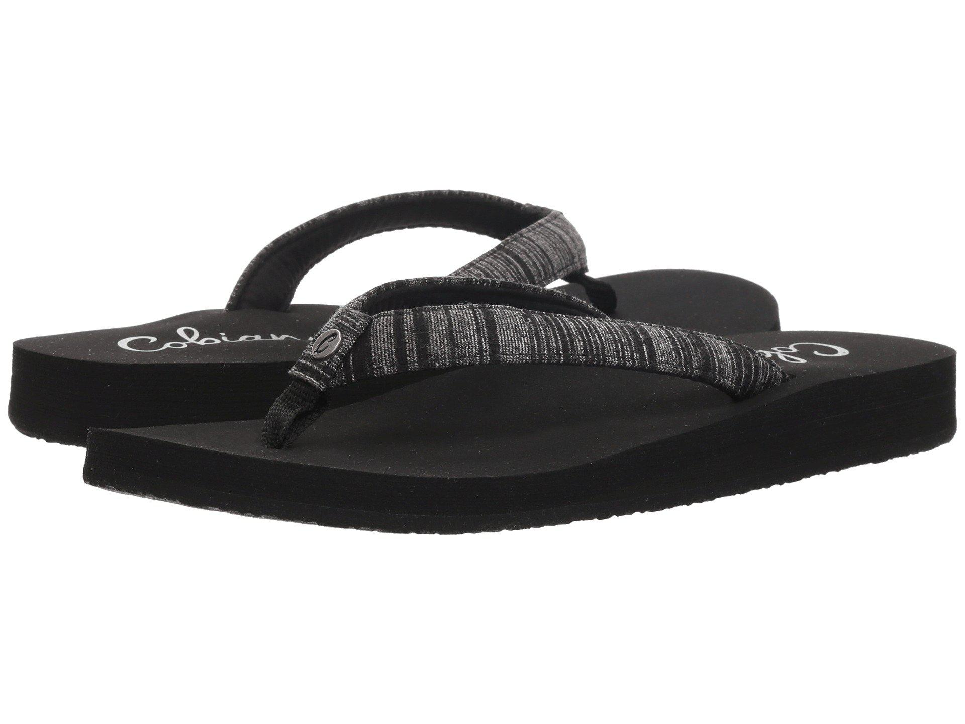 f74b50da75873 Lyst - Cobian Fiesta Skinny Bounce (tan) Women s Sandals in Black