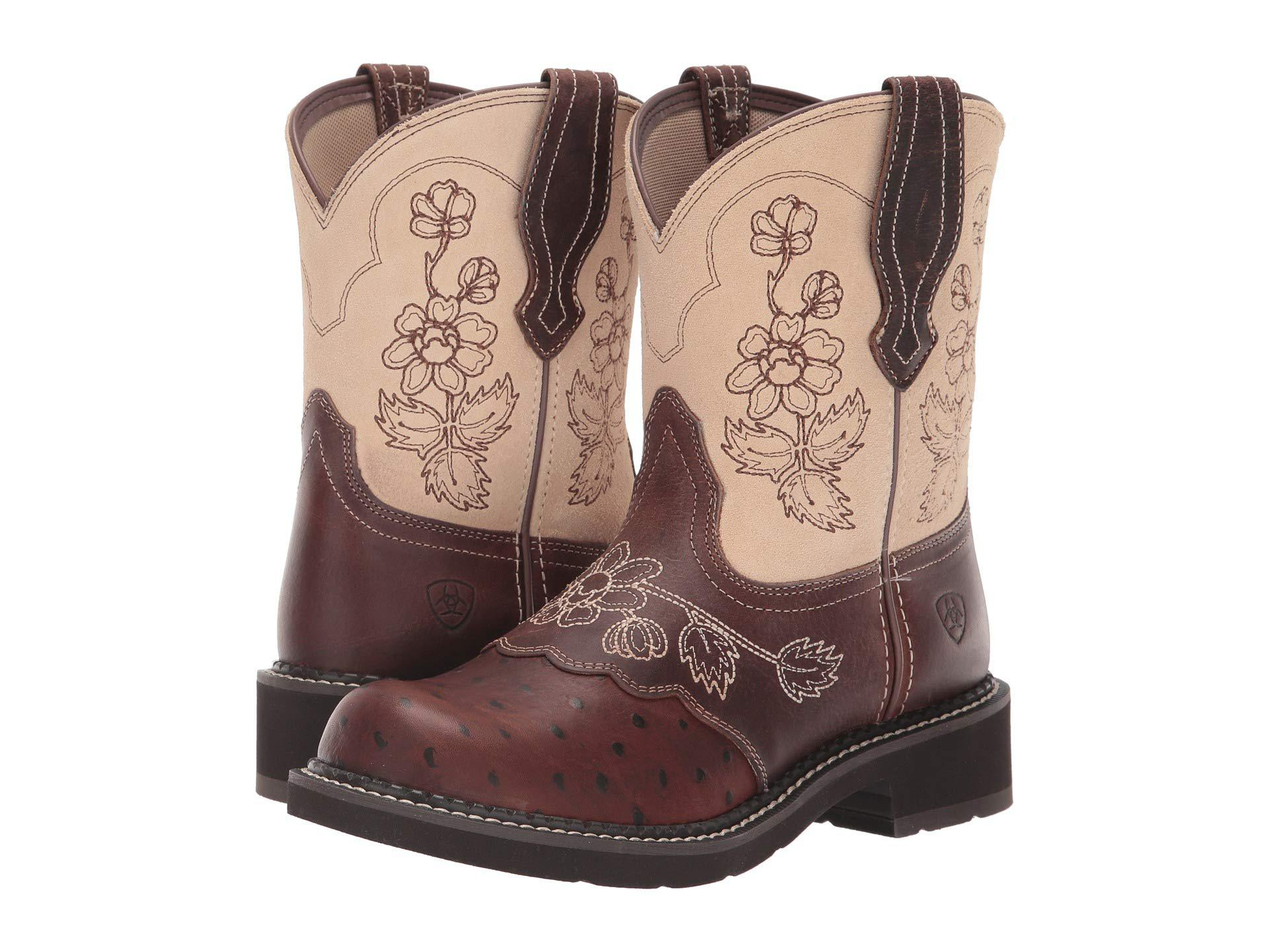 49ea78b6698 Ariat Multicolor Fatbaby Heritage Viola (copper Ostrich Print/sand) Cowboy  Boots