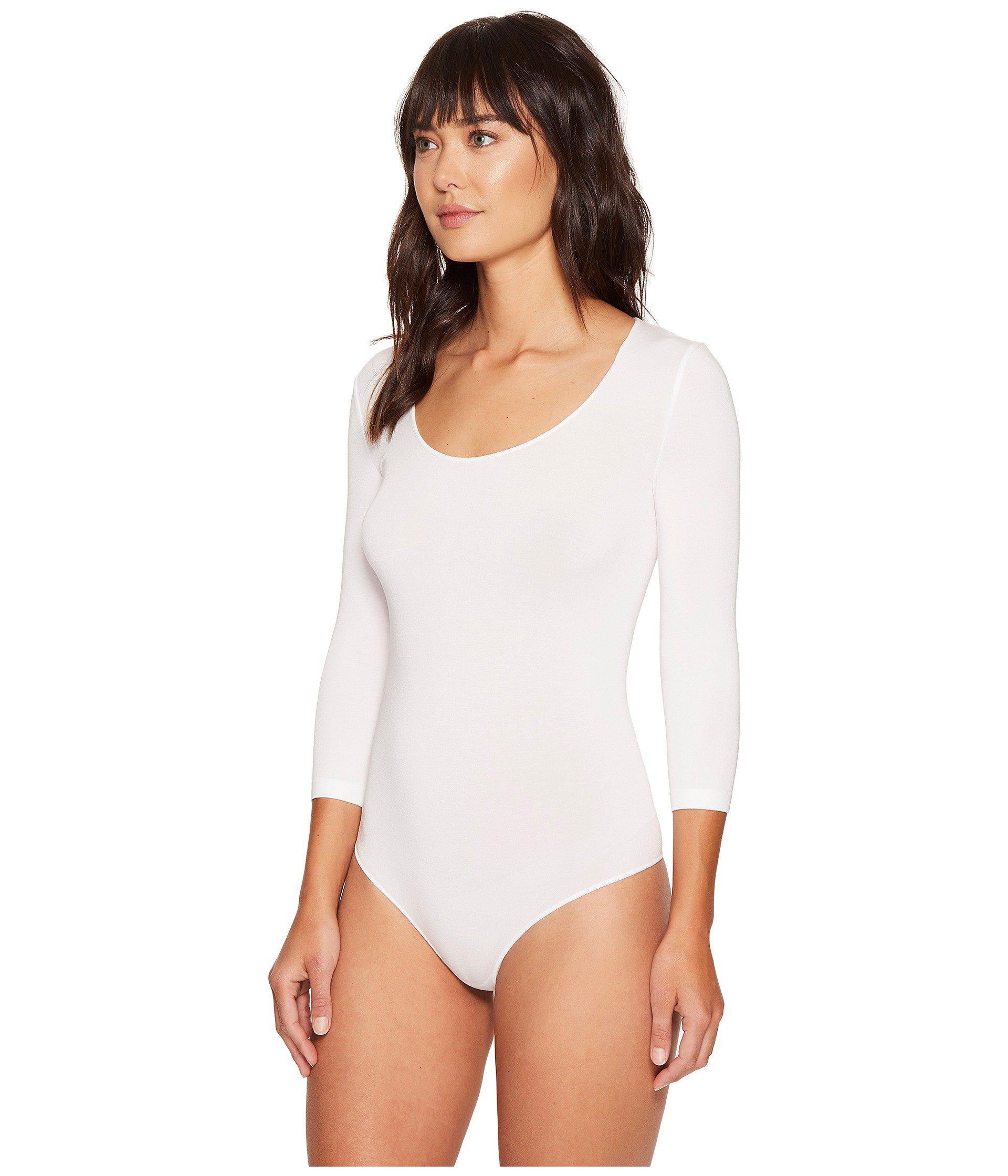 376f0a8e8e Lyst - Wolford Tokio String Bodysuit (black) Women s Underwear in White