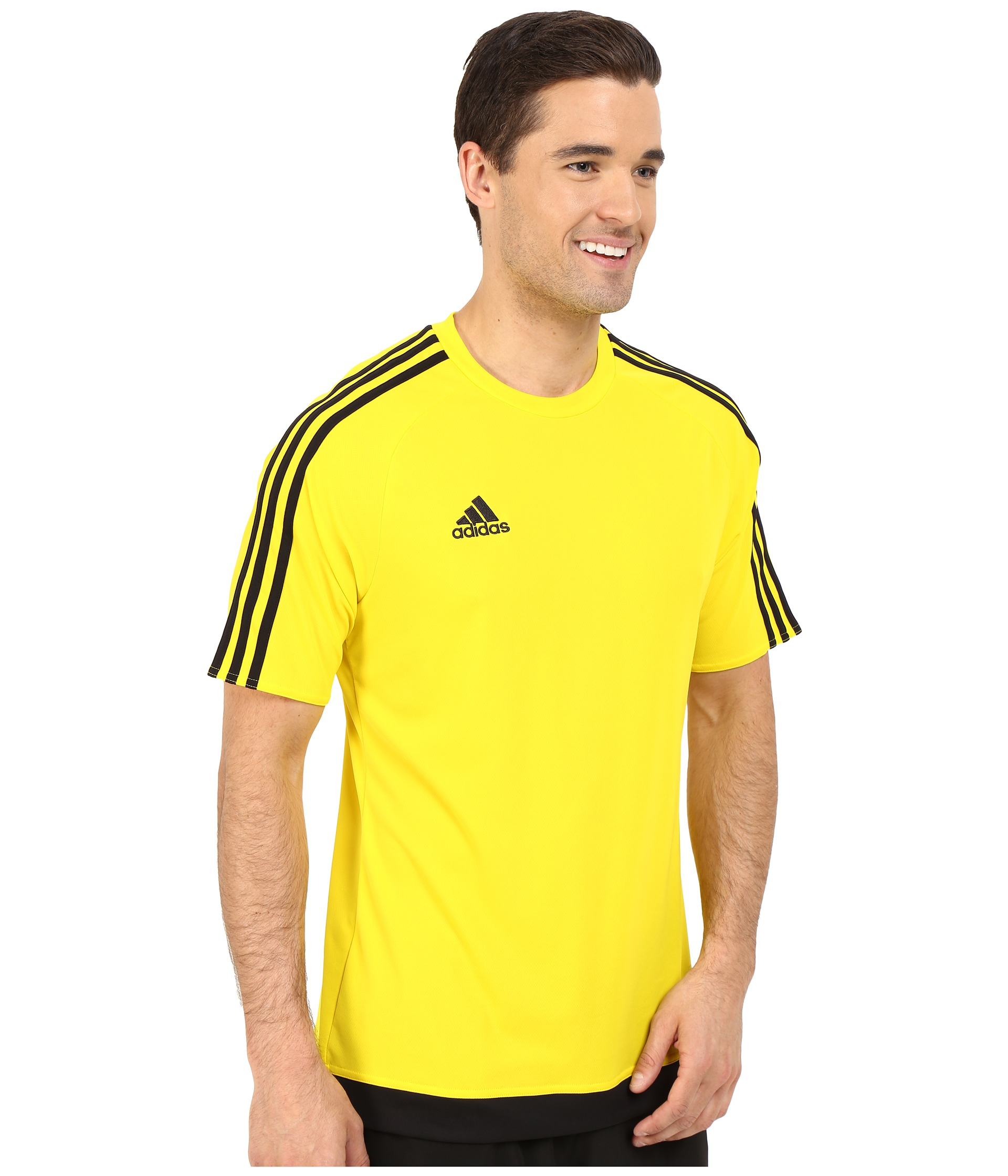 adidas Synthetic Men's Short-sleeve Soccer Jersey in Yellow/Black ...