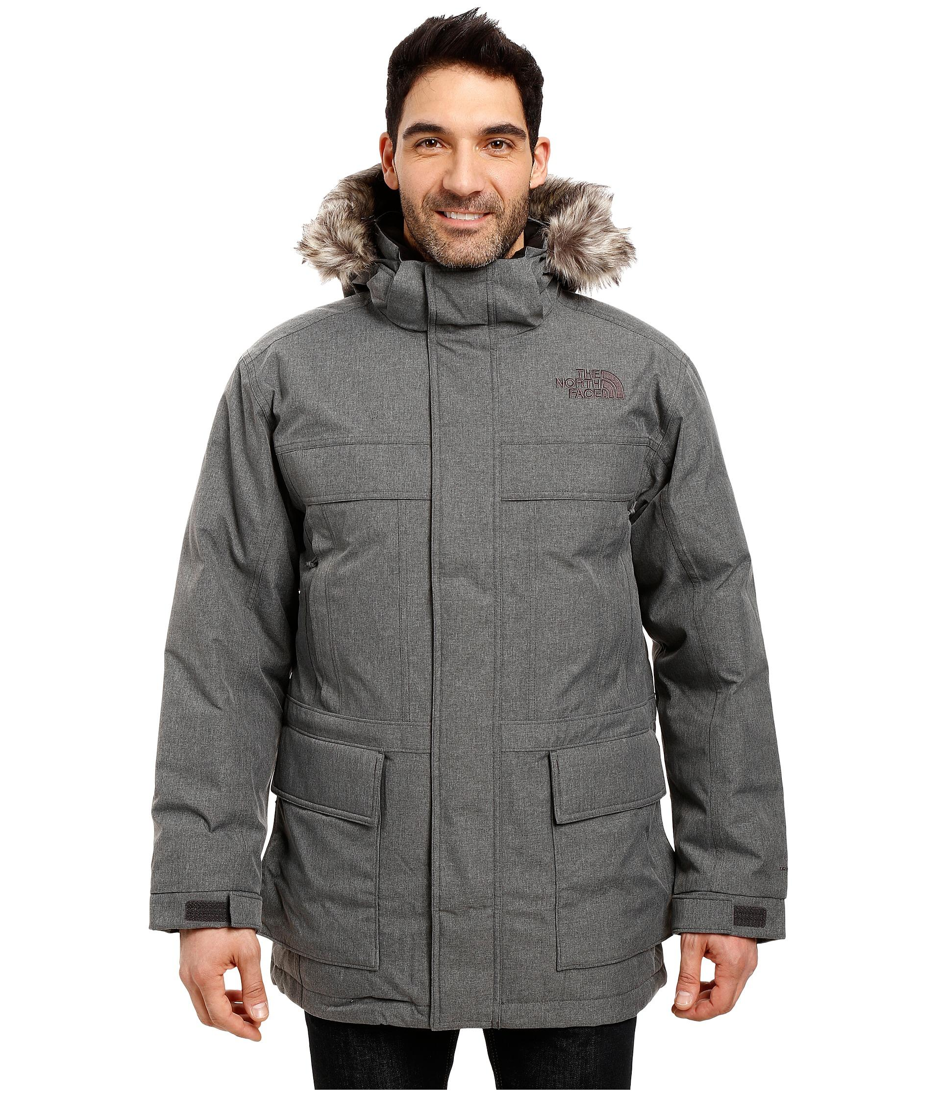 the north face mcmurdo parka ii in gray for men lyst. Black Bedroom Furniture Sets. Home Design Ideas