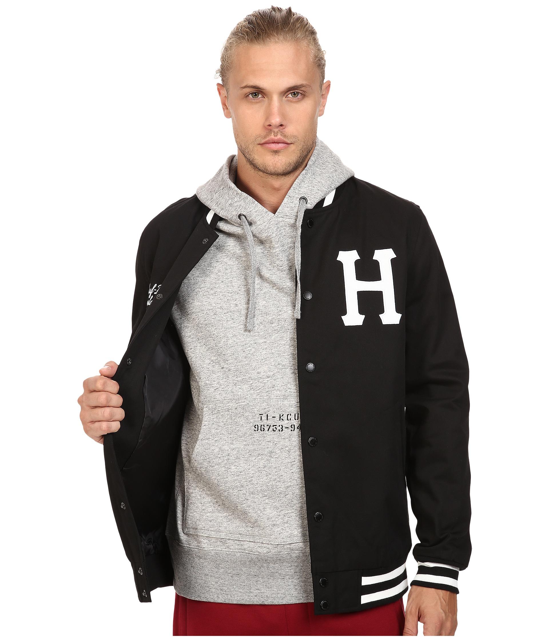 Mens HUF Big H Varsity Full-Zip Hoodie
