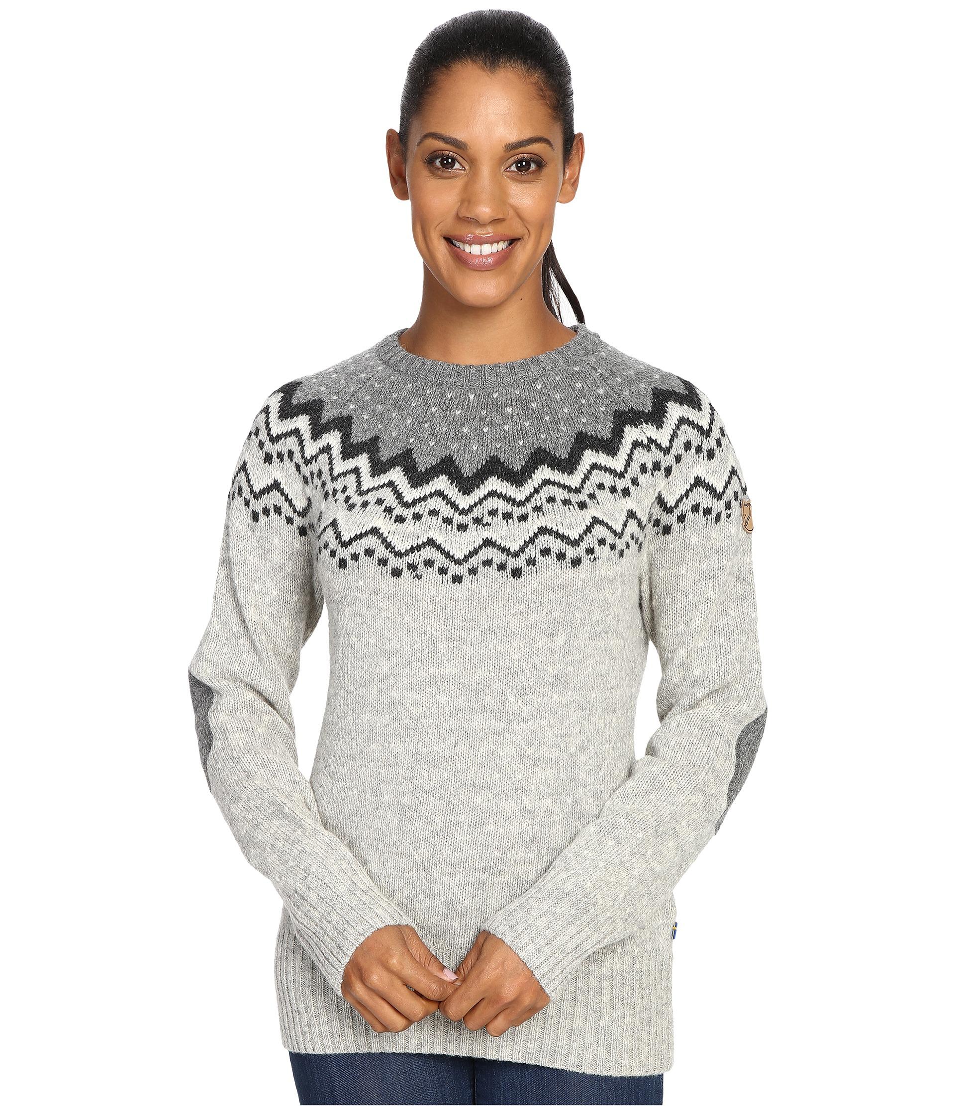 aa21795d0749 Lyst - Fjallraven Övik Knit Sweater in Gray